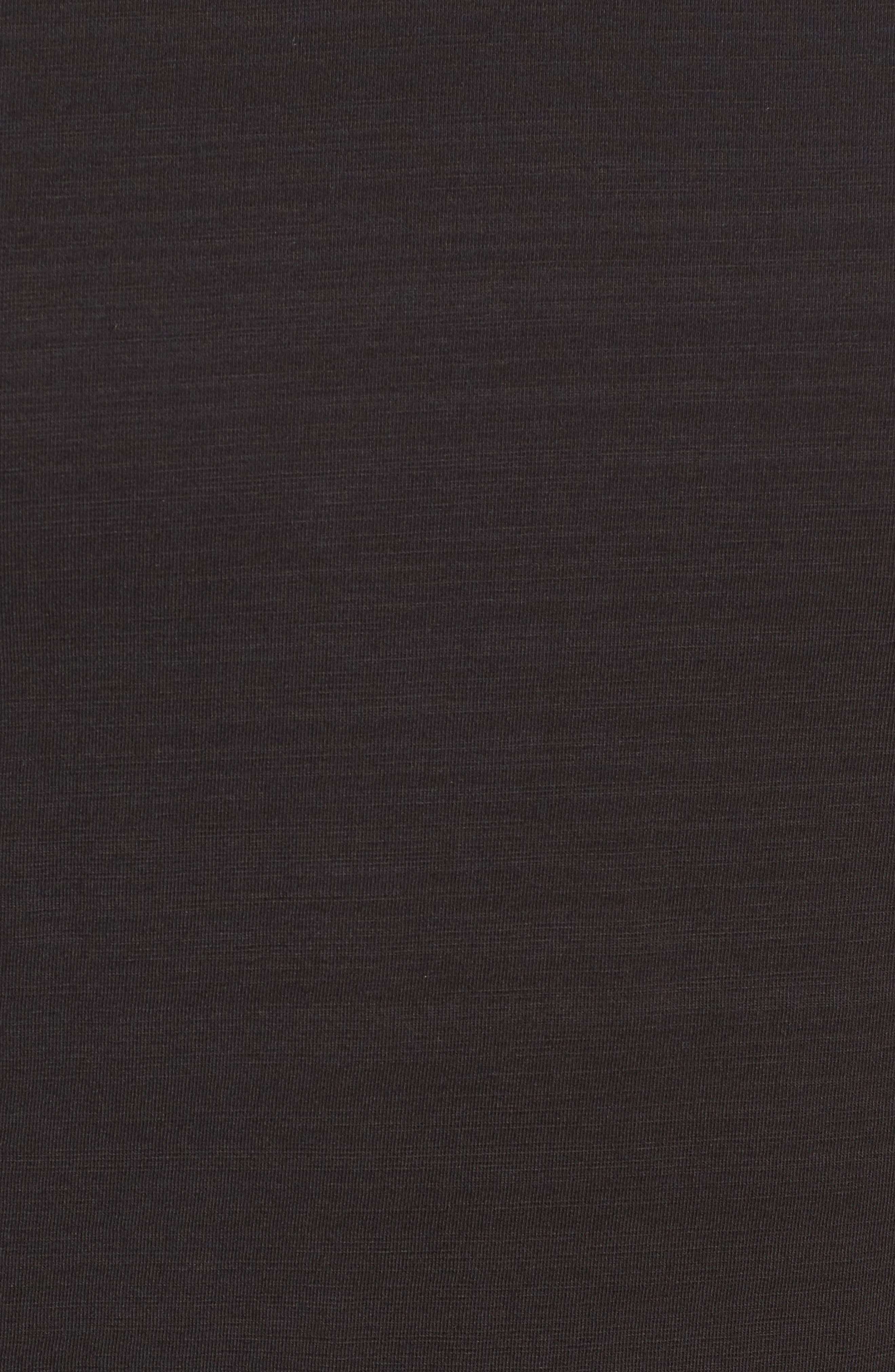 Riggs Stretch Slub Jersey T-Shirt,                             Alternate thumbnail 5, color,                             Black