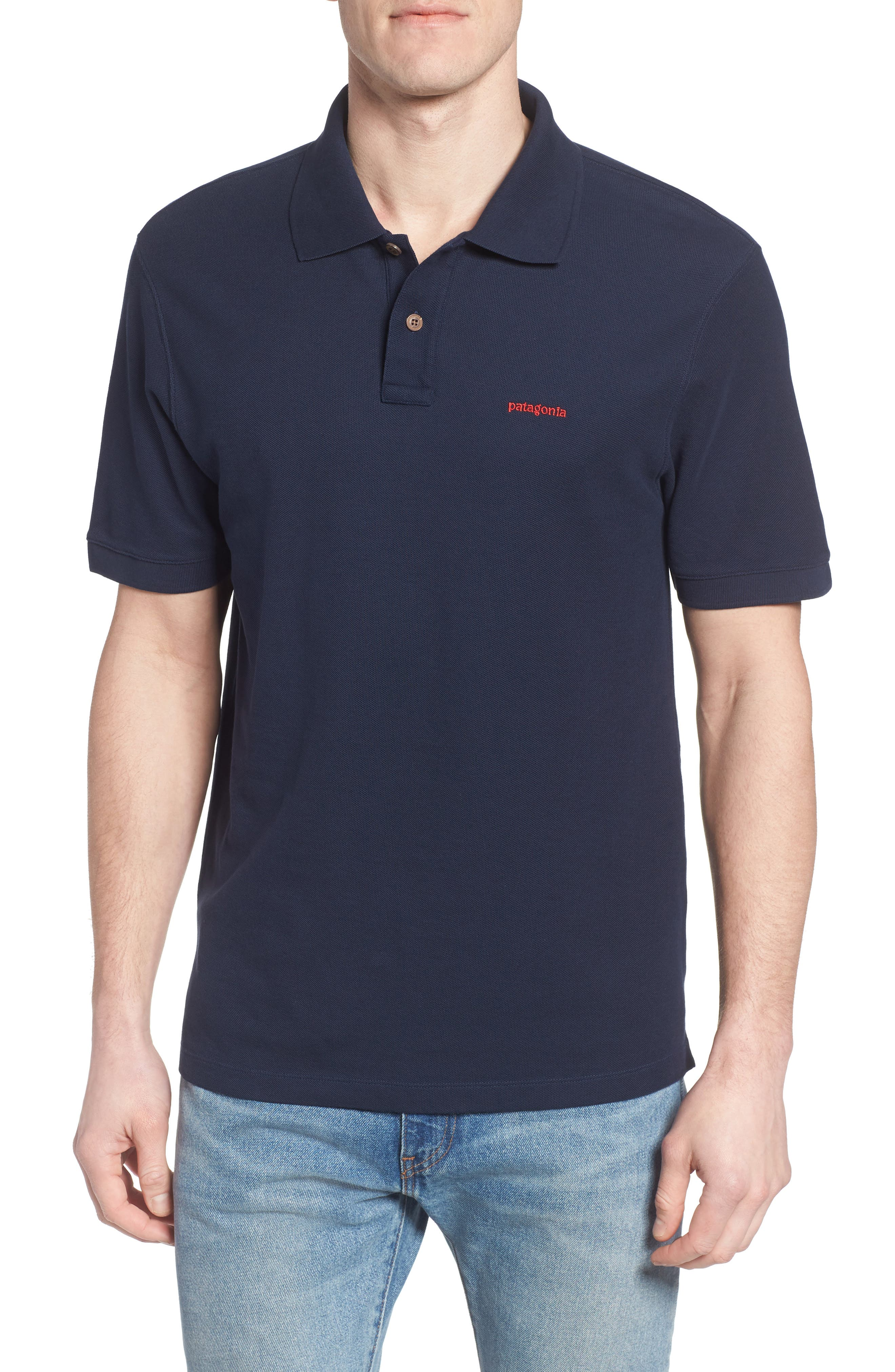 Patagonia Belwe Relaxed Fit Piqué Polo