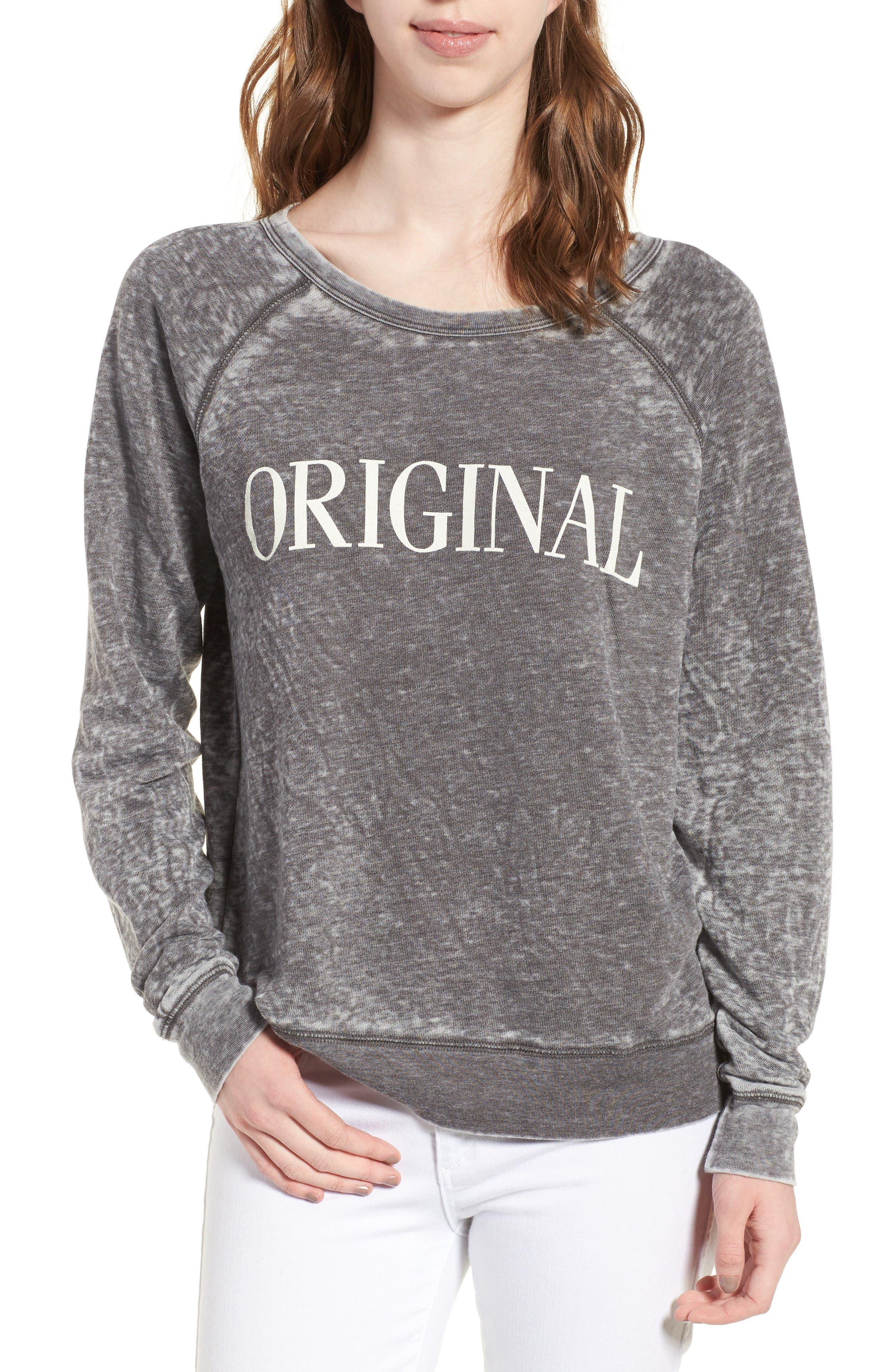 Original Burnout Sweatshirt,                         Main,                         color, Pepper