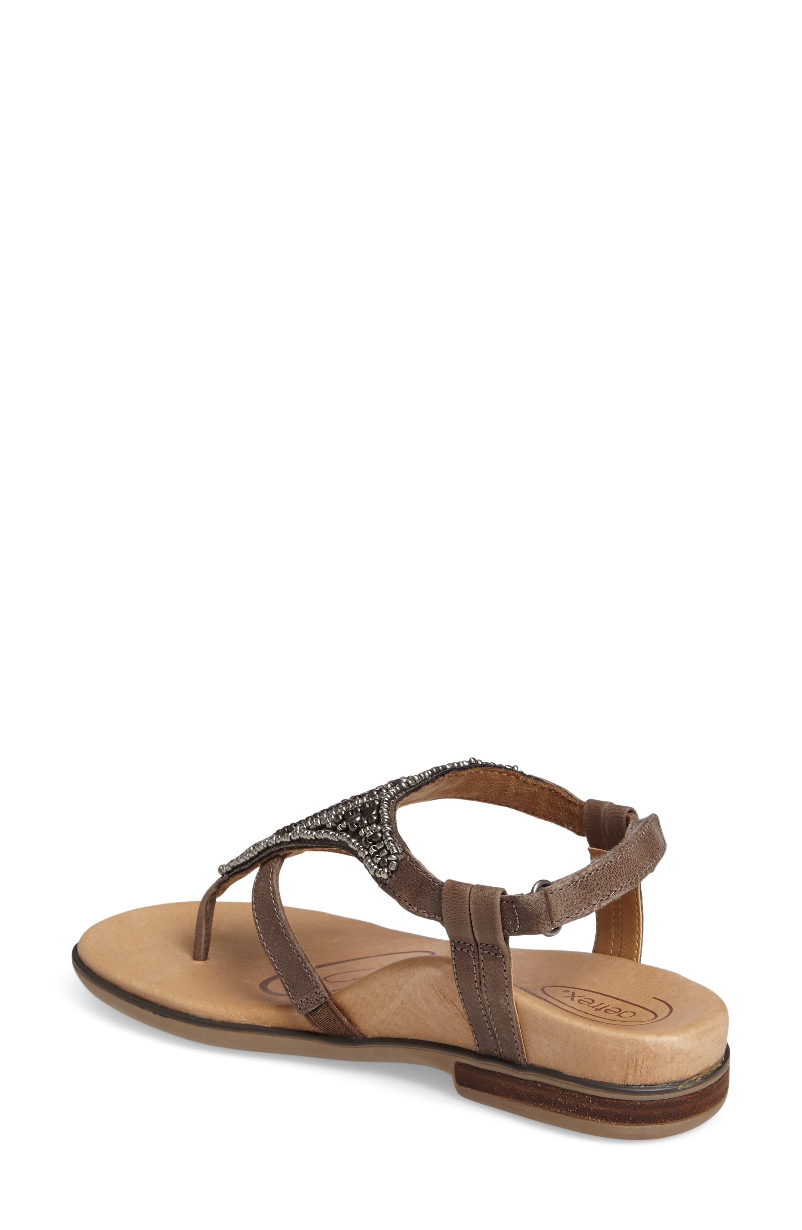 Sheila Embellished Sandal,                             Alternate thumbnail 2, color,                             Stone Leather