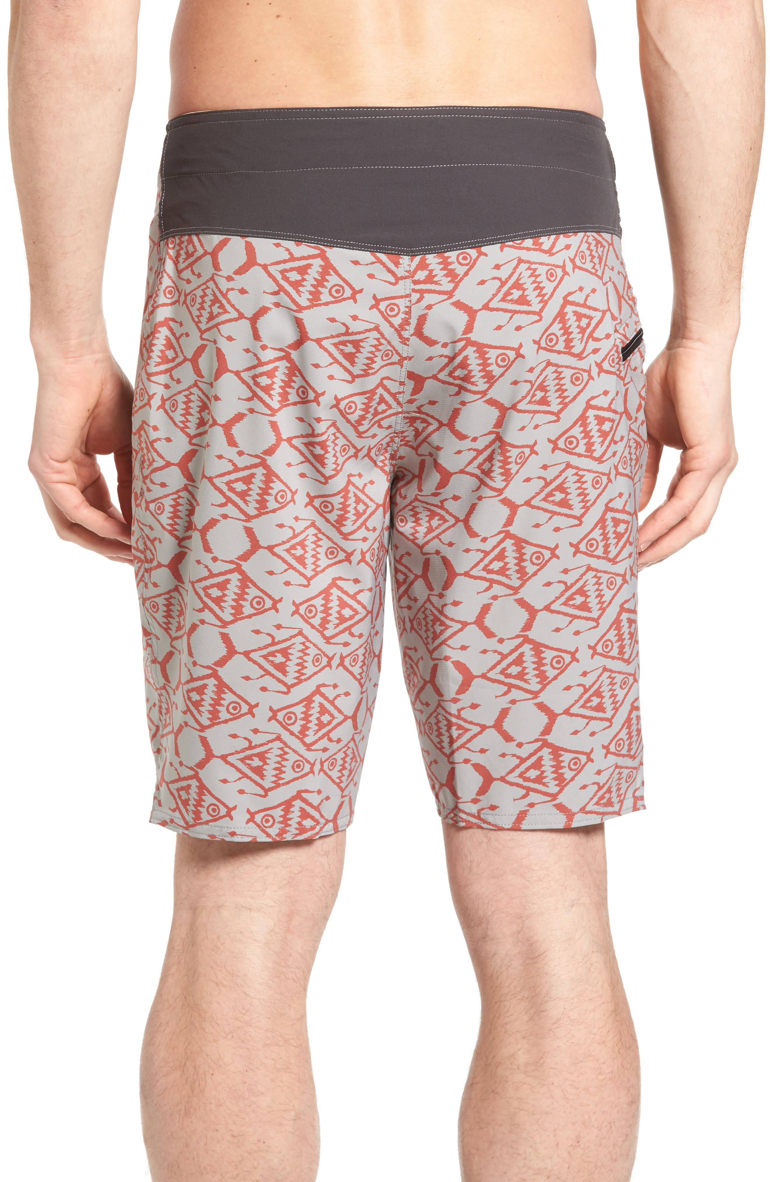 Stretch Planing Board Shorts,                             Alternate thumbnail 2, color,                             Spiced Coral