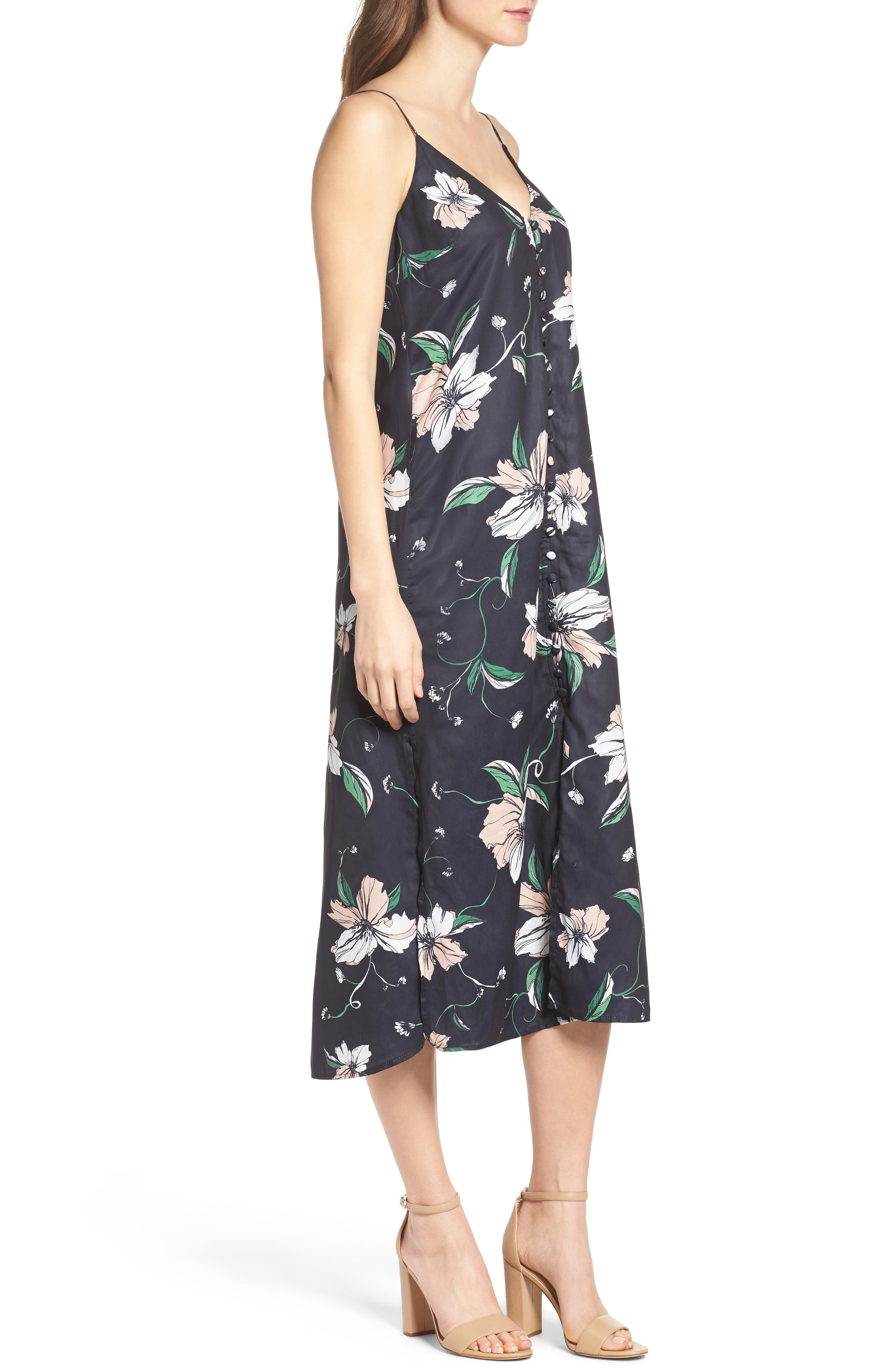 Alternate Image 3  - Bardot Hibiscus Print Midi Dress