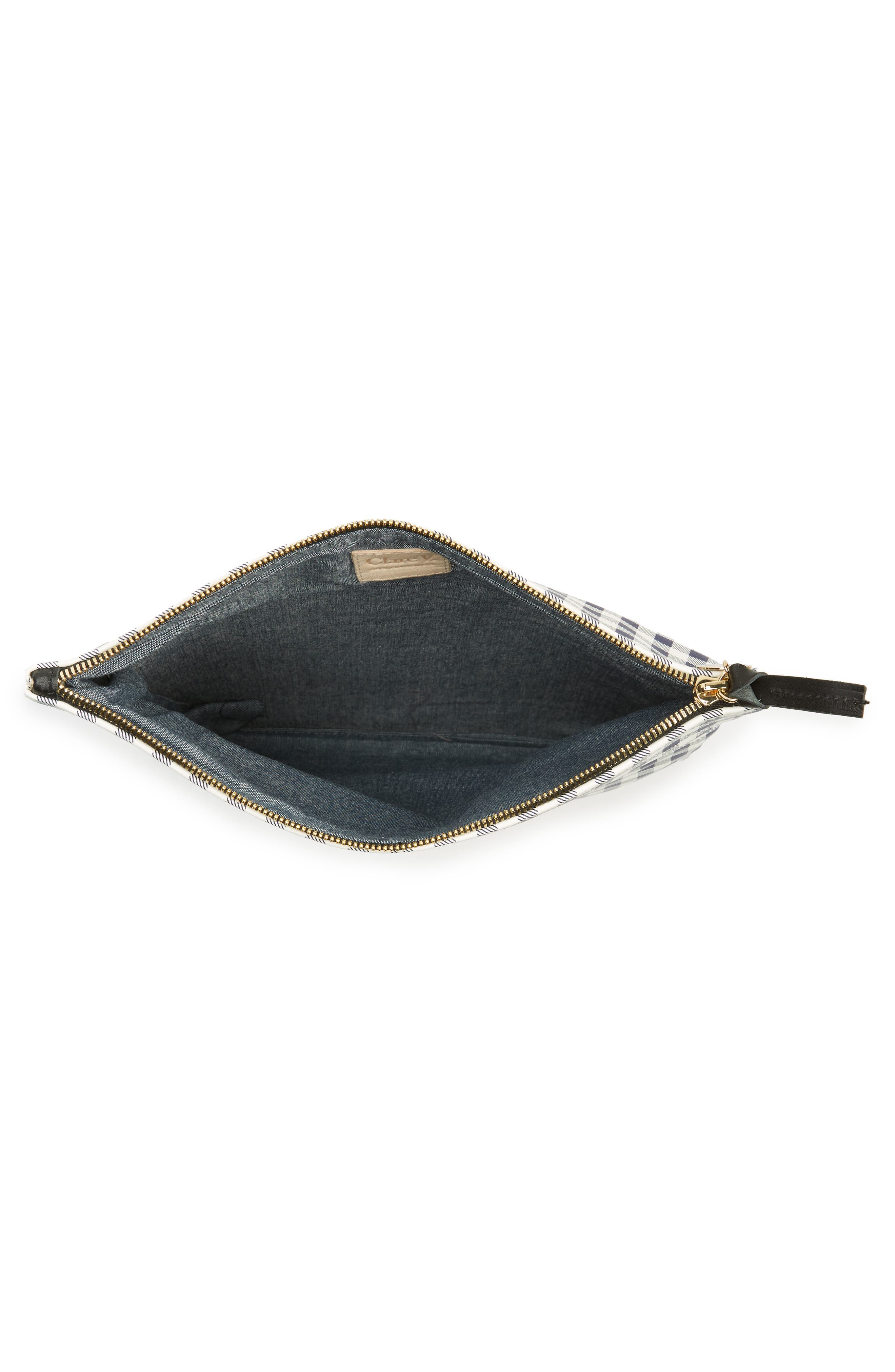 Alternate Image 4  - Clare V. Gingham Leather Foldover Clutch
