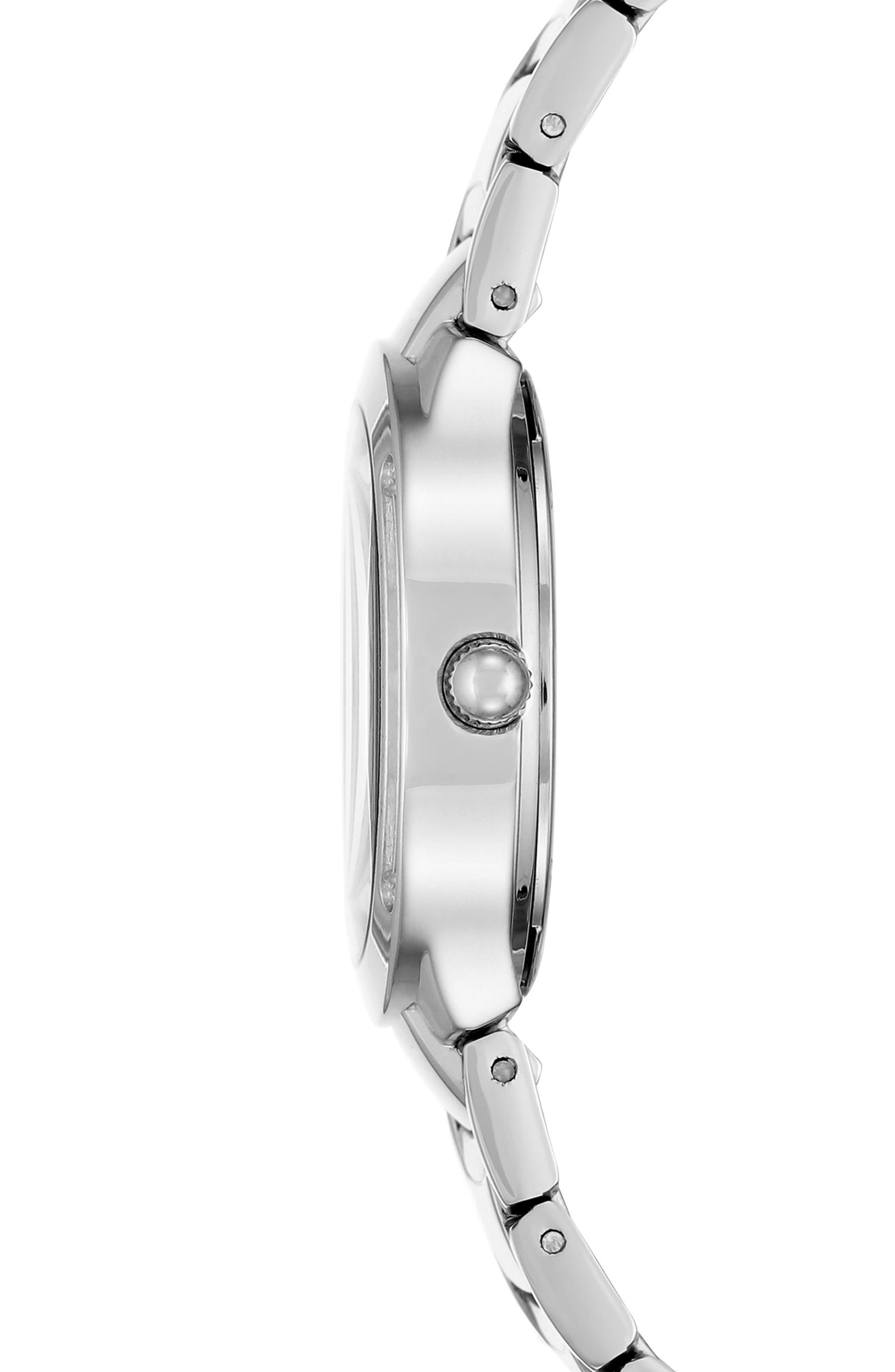 Bracelet Watch, 28mm,                             Alternate thumbnail 3, color,                             Silver