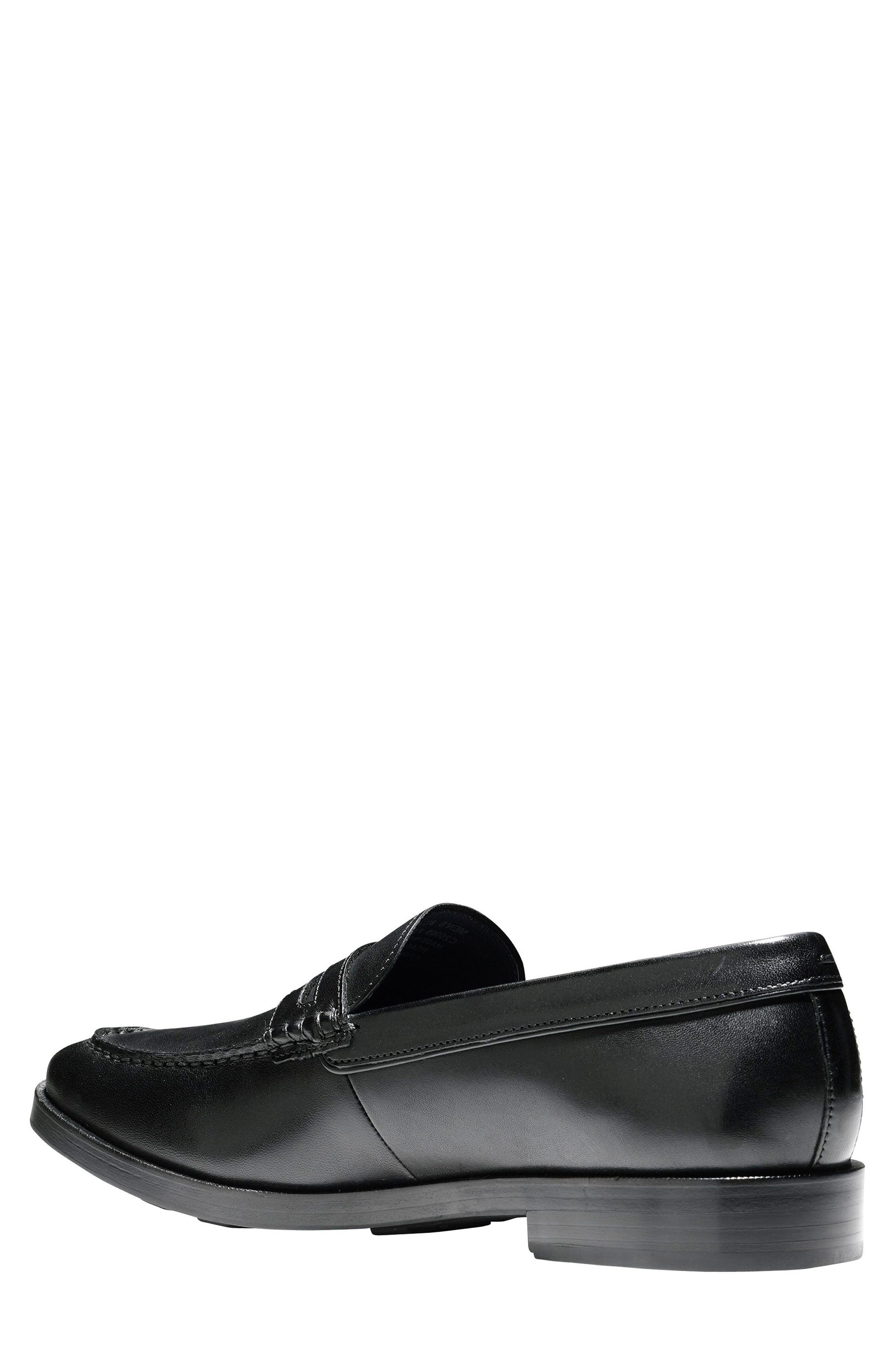 Hamilton Grand Penny Loafer,                             Alternate thumbnail 2, color,                             Black Leather