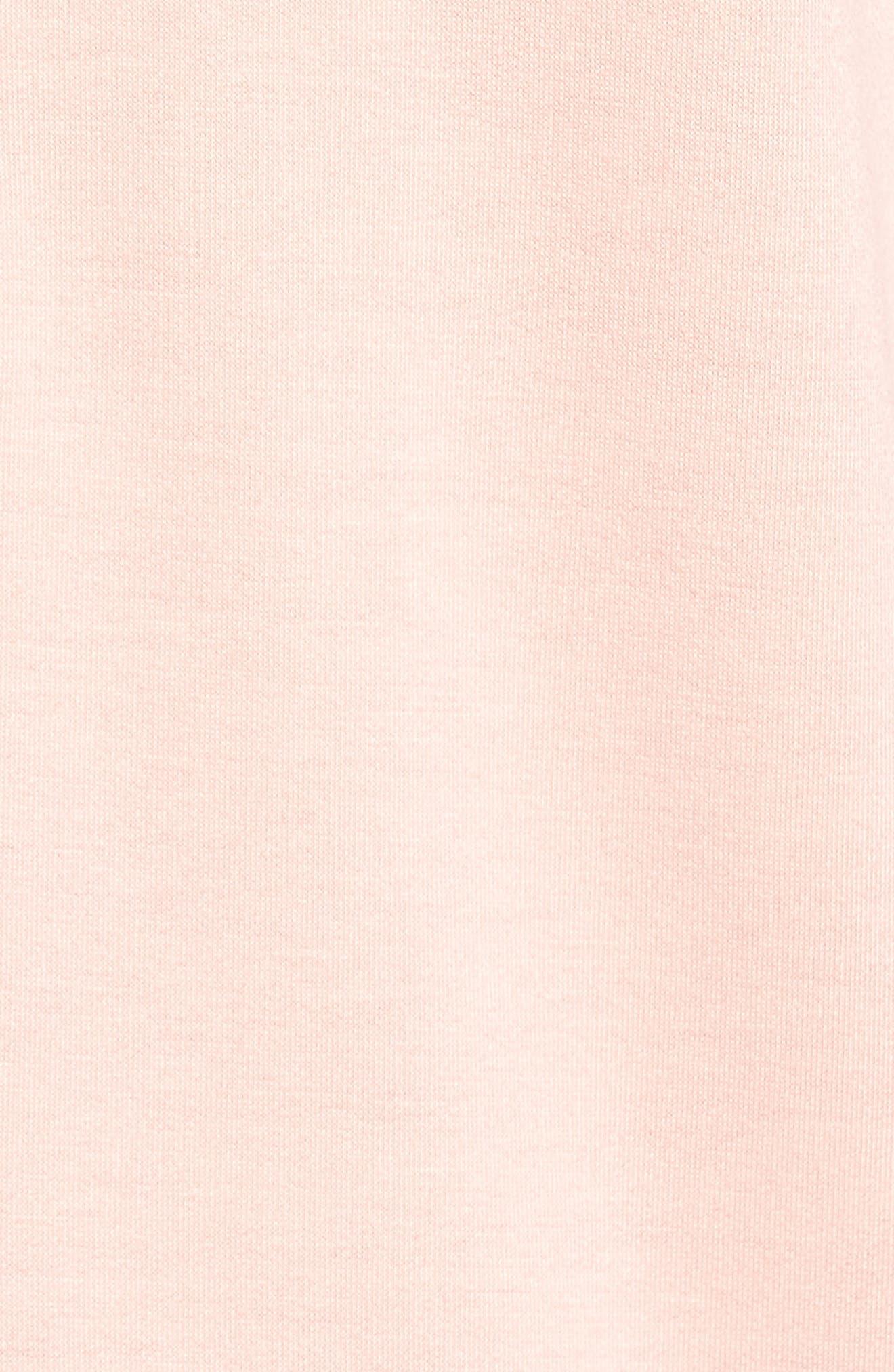 Alternate Image 5  - Caslon® Lace-Up Hooded Sweatshirt (Regular & Petite)