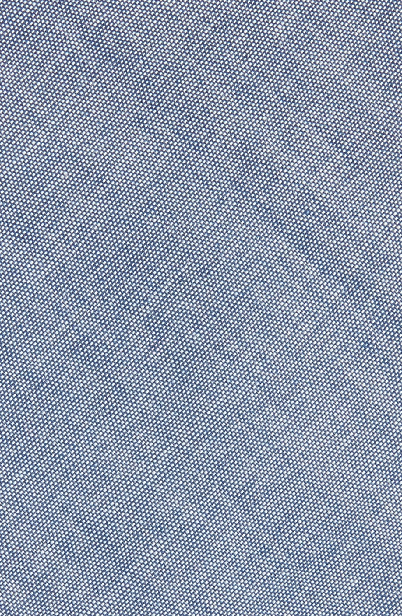 Classic Chambray Cotton Tie,                             Alternate thumbnail 2, color,                             Warm Blue