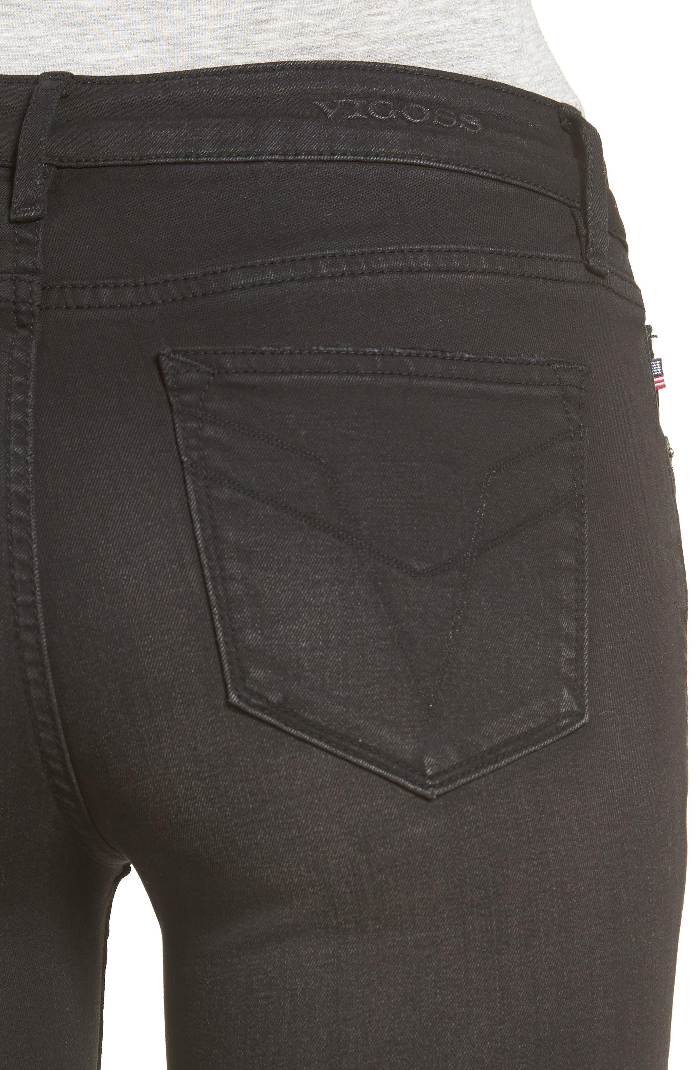 Alternate Image 4  - Vigoss Chelsea Ripped Skinny Jeans