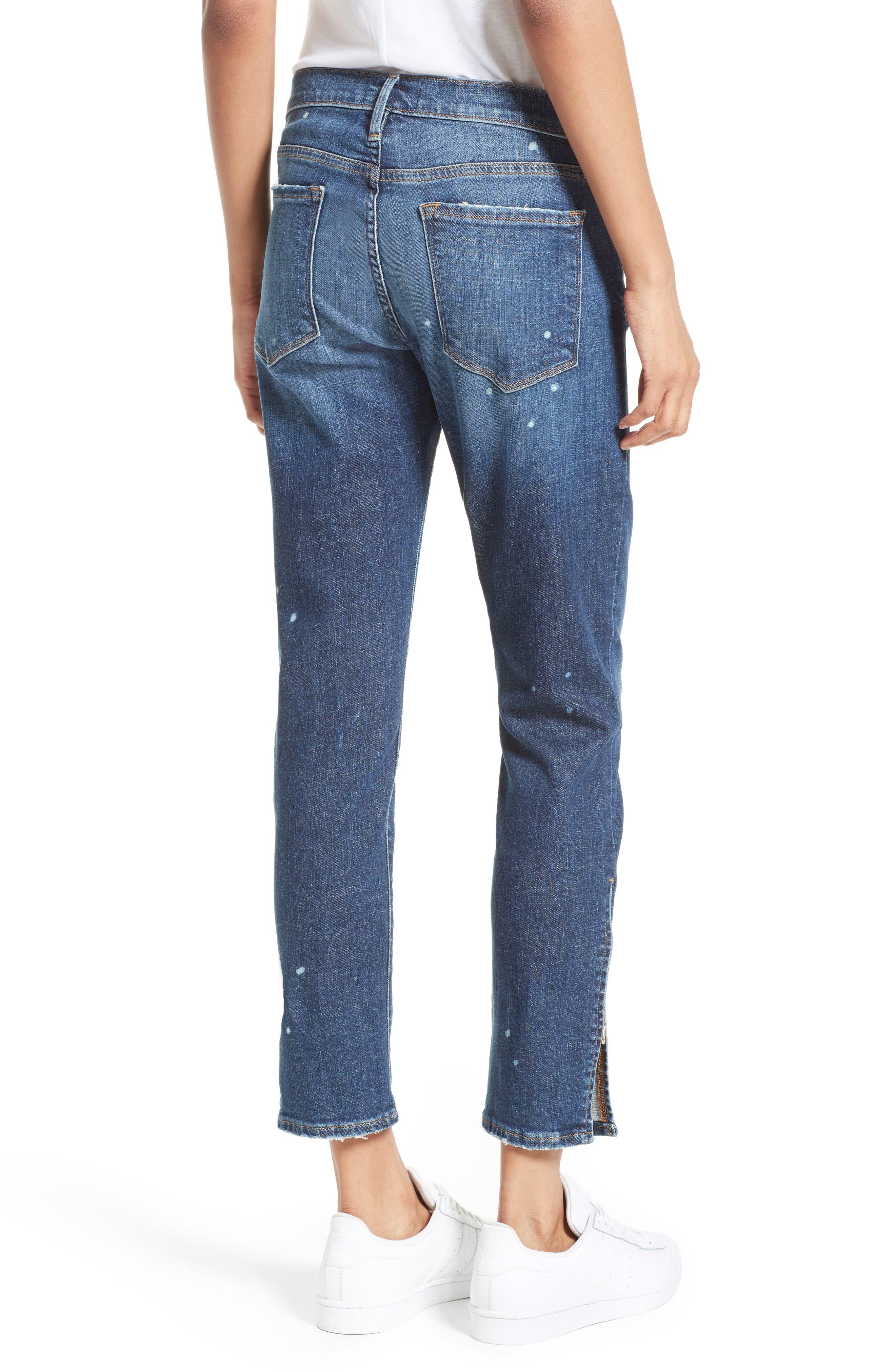 Alternate Image 2  - FRAME Le Garcon Slim Zip Hem Jeans (Marion)