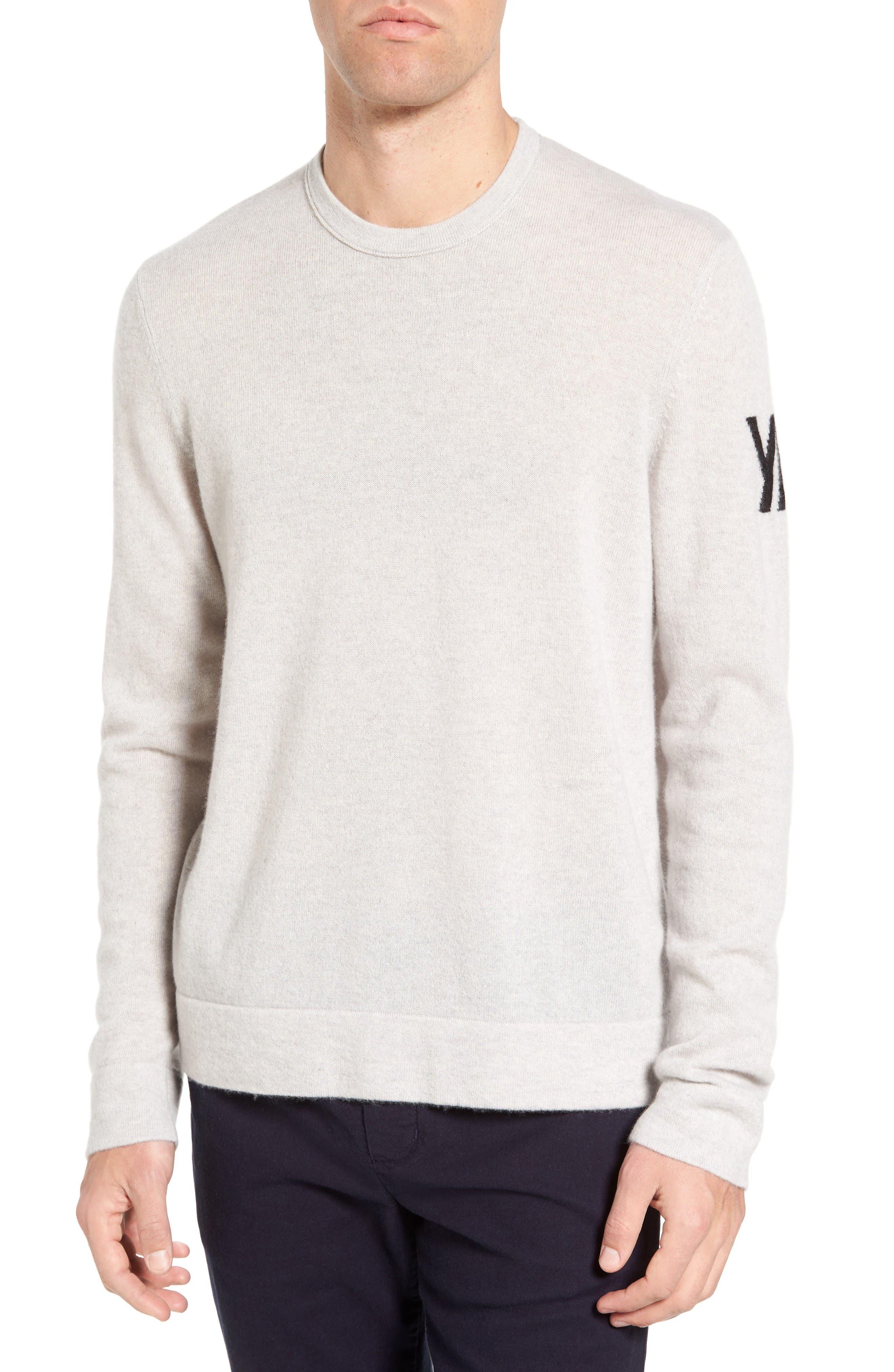 Intarsia Cashmere Sweater,                         Main,                         color, Pearl