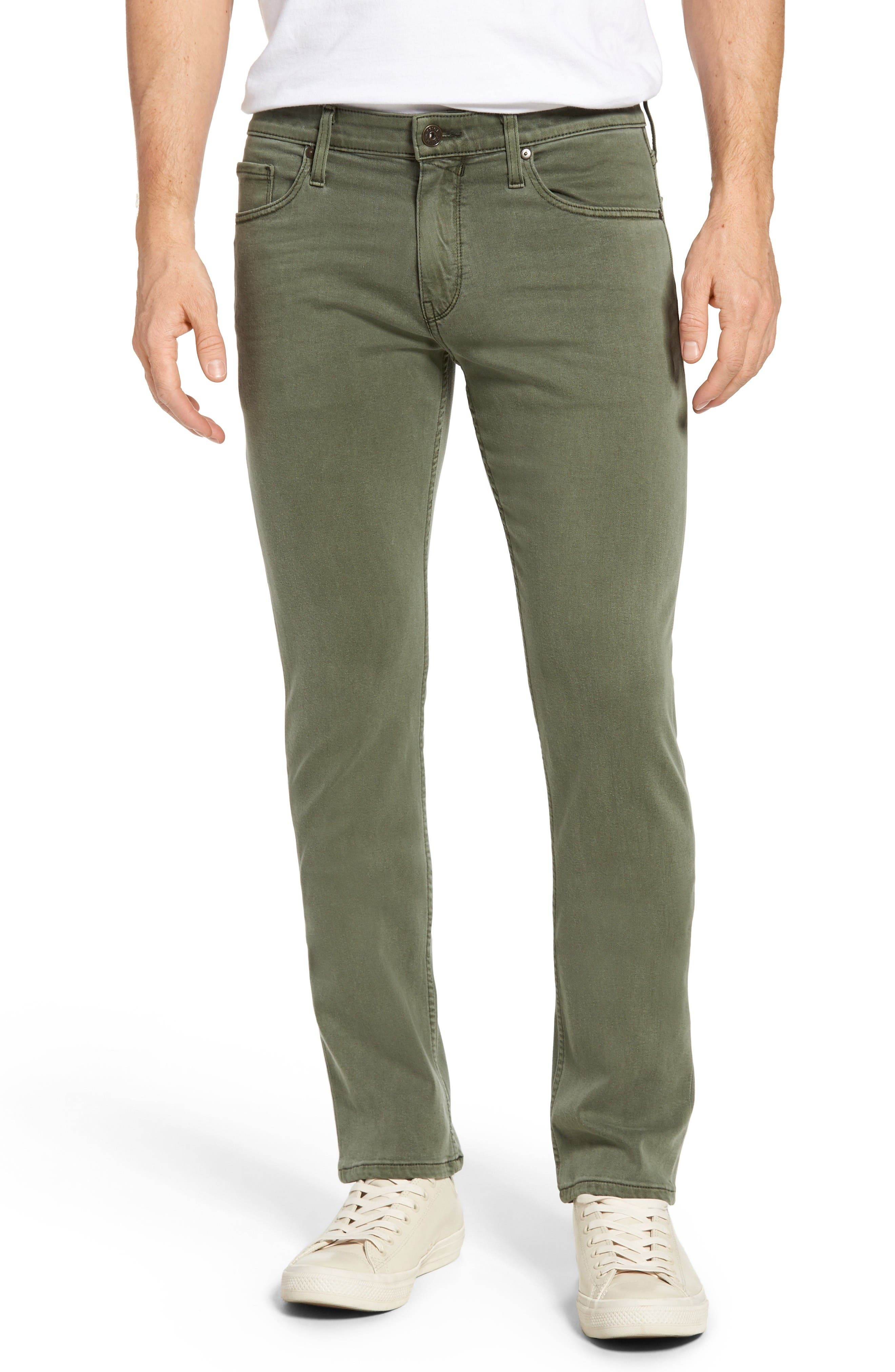 Transcend - Federal Slim Straight Leg Jeans,                             Main thumbnail 1, color,                             Green House