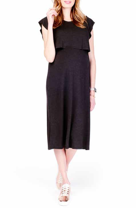 Ingrid & Isabel® Maternity/Nursing Midi Dress by INGRID AND ISABEL