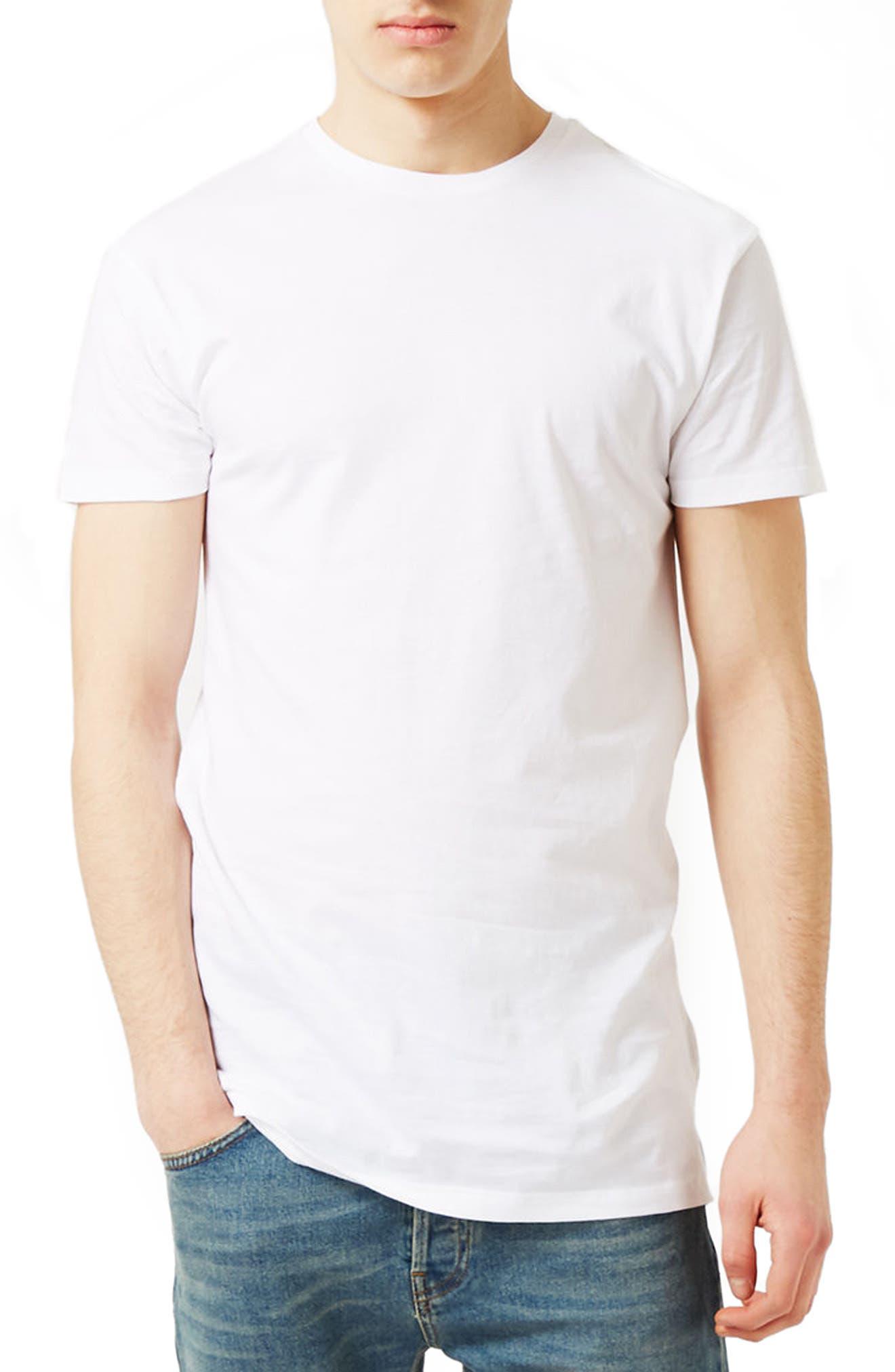 Alternate Image 1 Selected - Topman Muscle Fit Longline T-Shirt