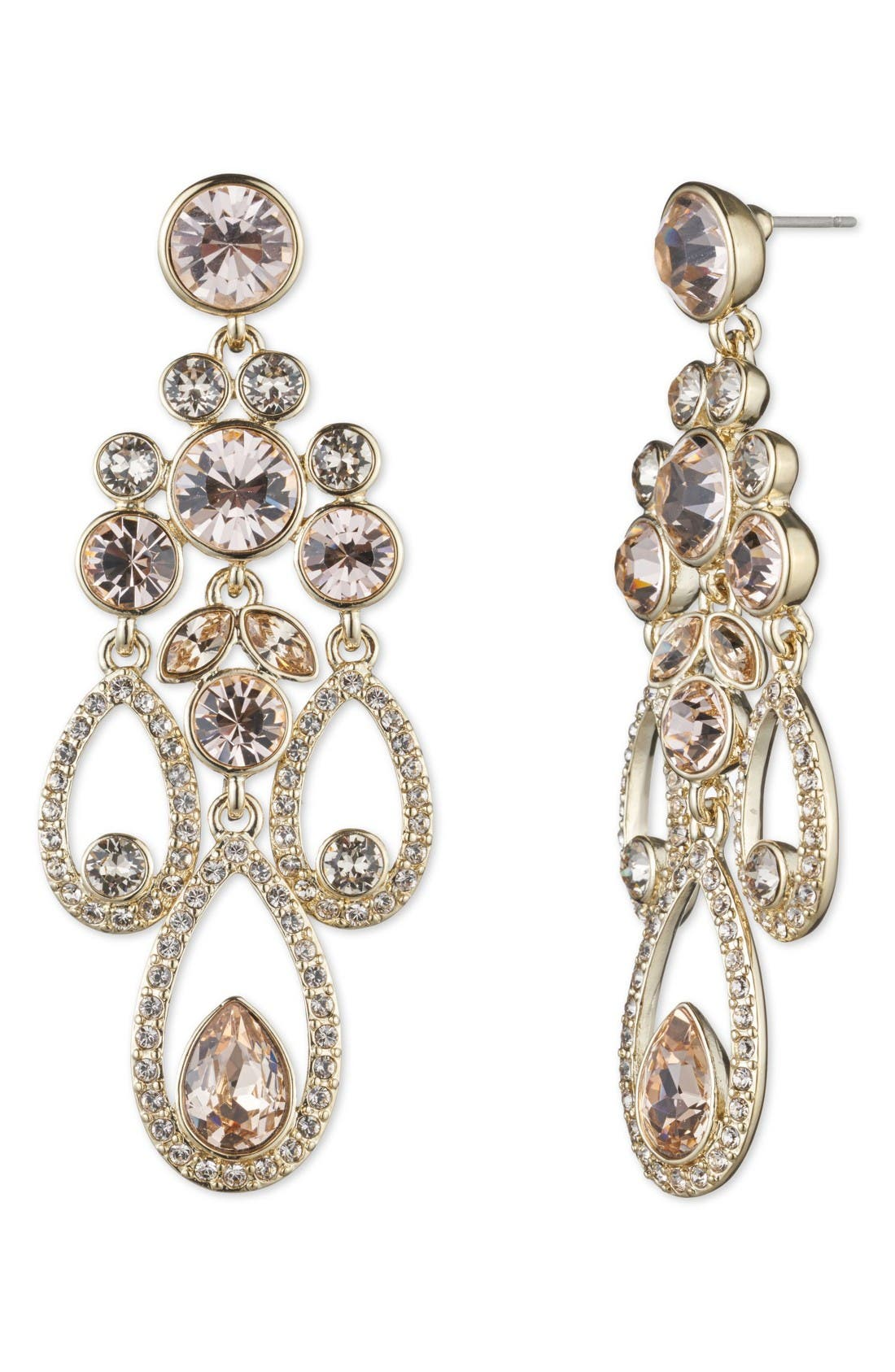 GIVENCHY Drama Chandelier Crystal Earrings