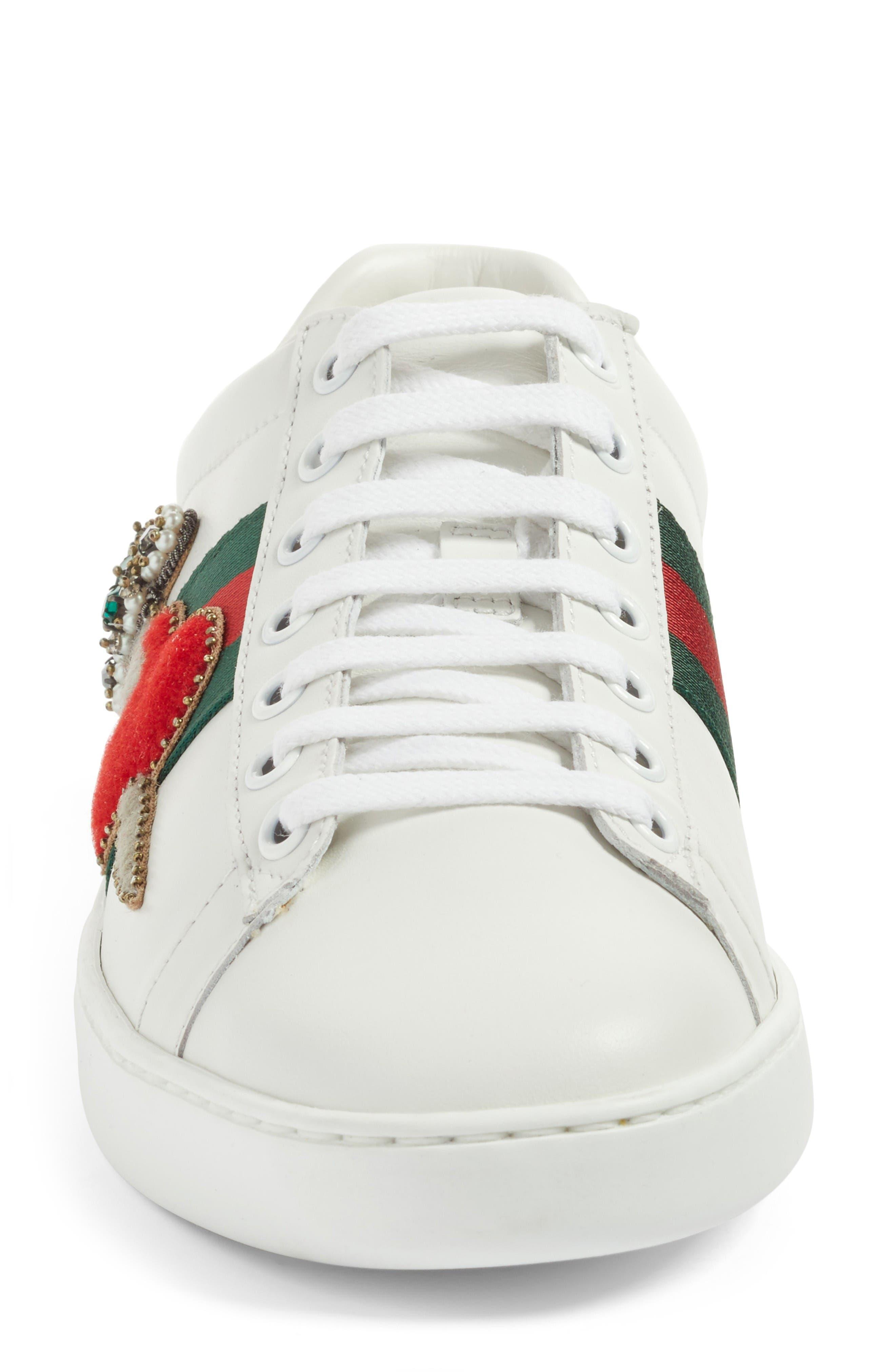 New Ace Pierced Heart Sneaker,                             Alternate thumbnail 4, color,                             White Multi