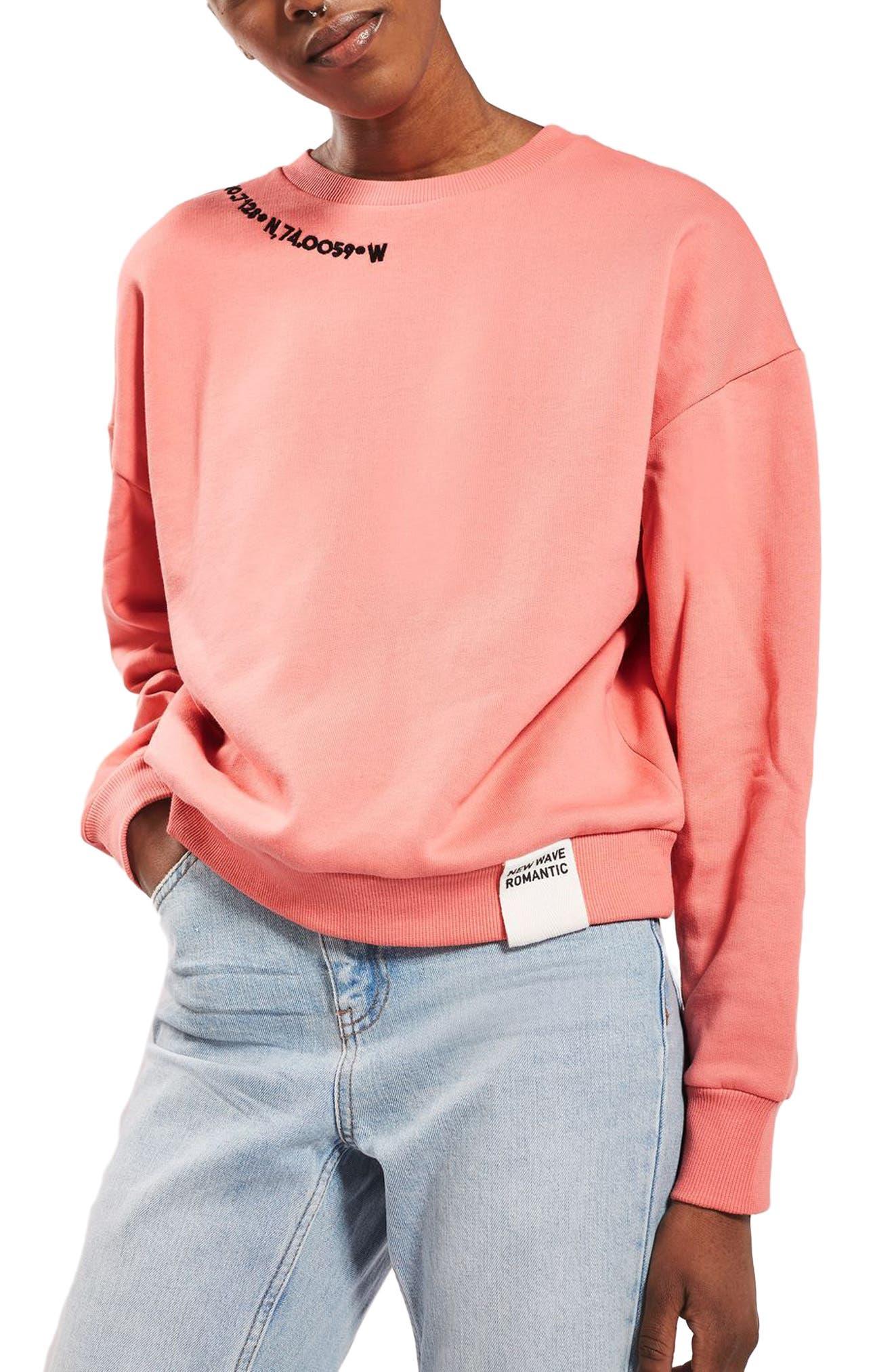 Alternate Image 1 Selected - Topshop Romance Sweatshirt