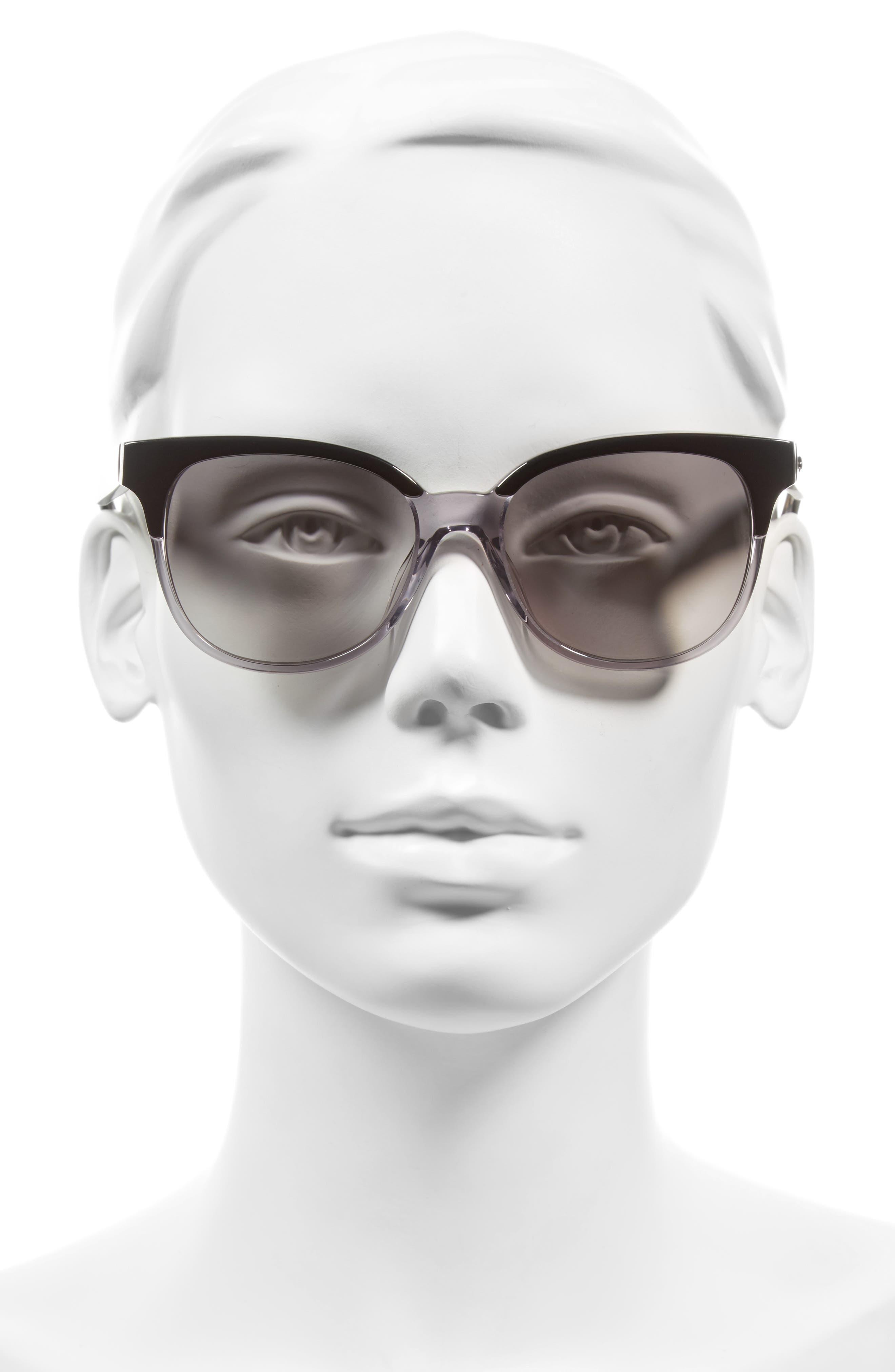 arlynn 52mm sunglasses,                             Alternate thumbnail 2, color,                             Black/ Grey