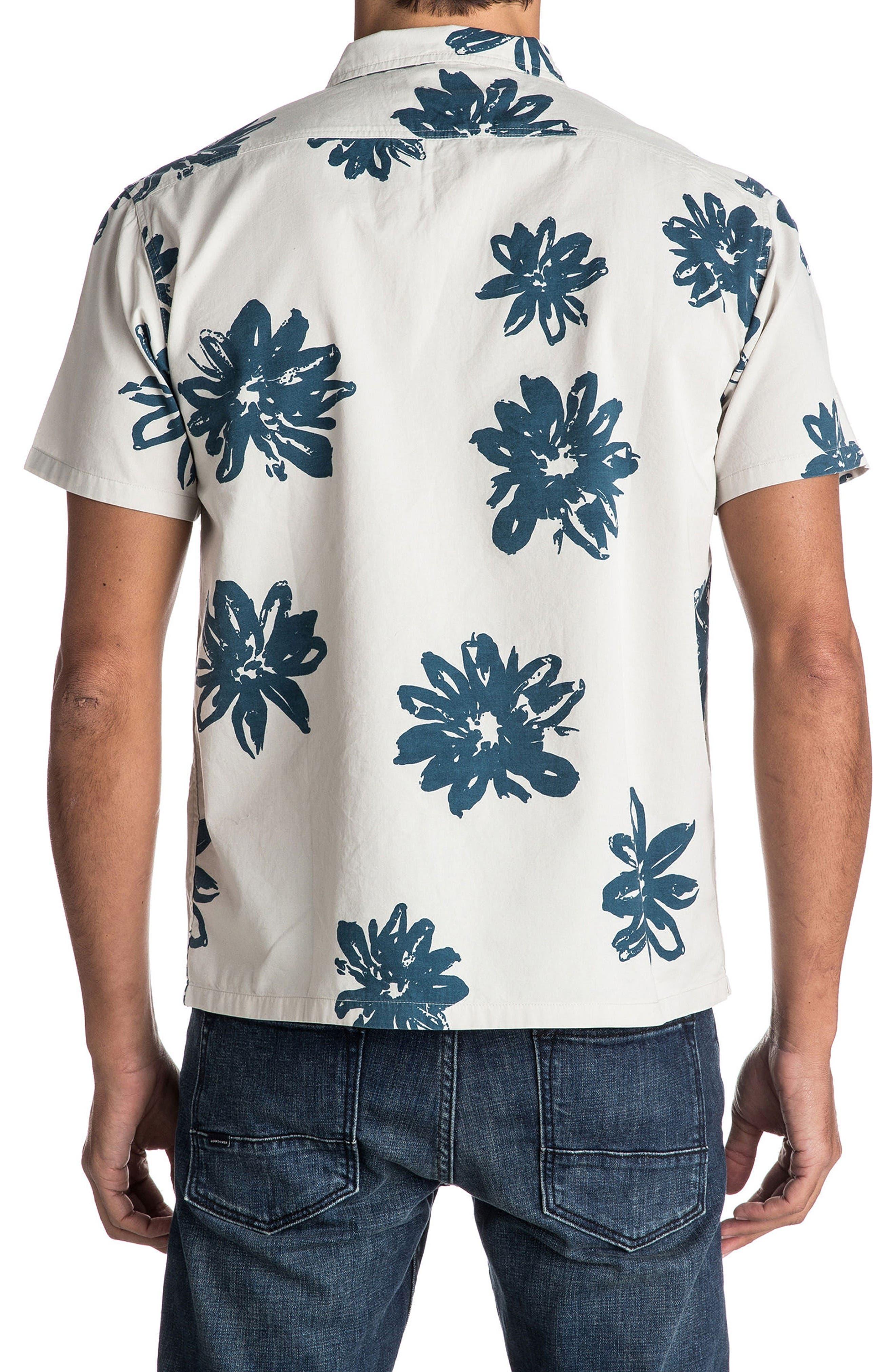 South Beach Dimes Woven Shirt,                             Alternate thumbnail 2, color,                             Birch Vintage Surf