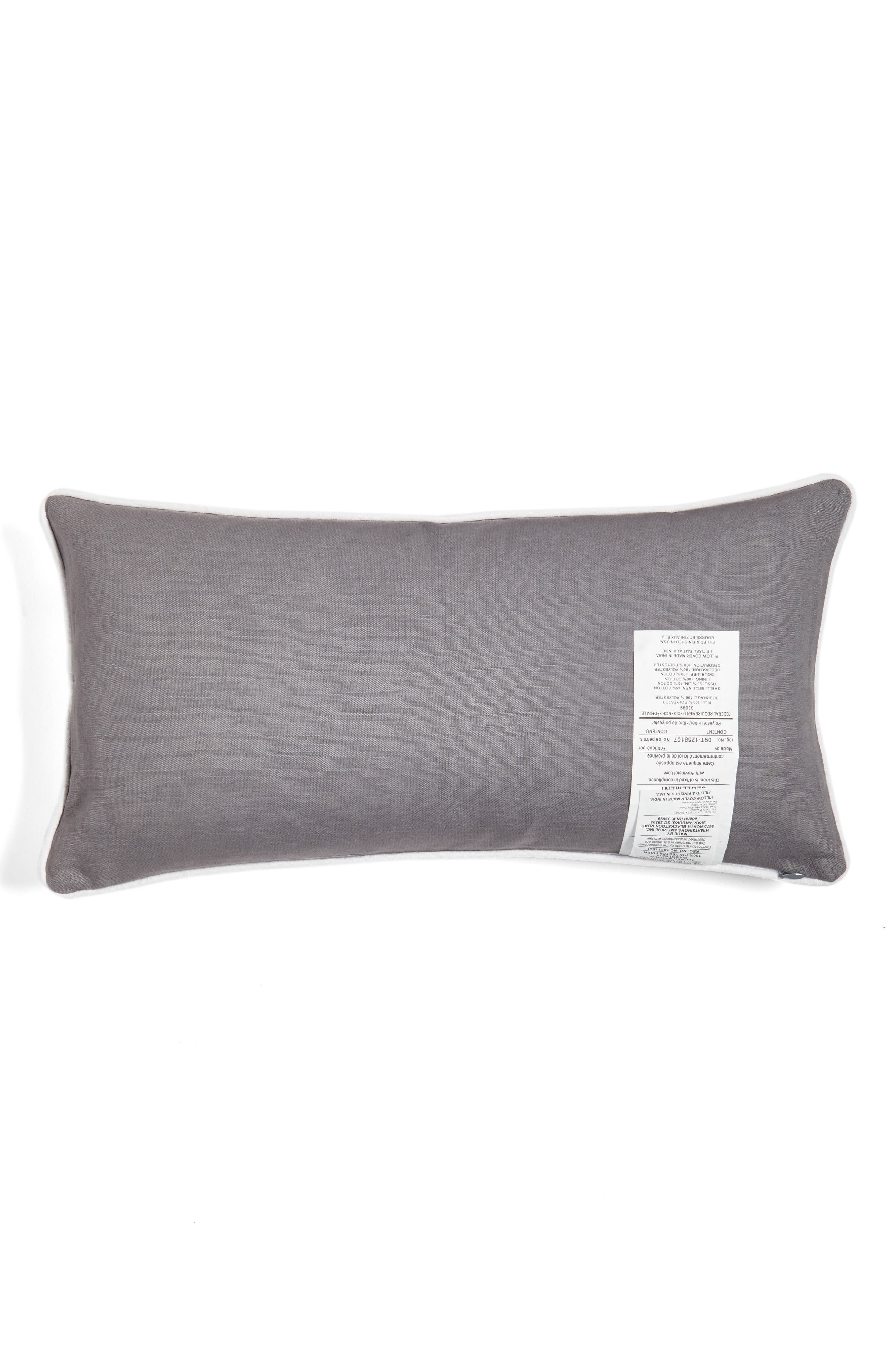 the world was hers accent pillow,                             Alternate thumbnail 2, color,                             Charcoal