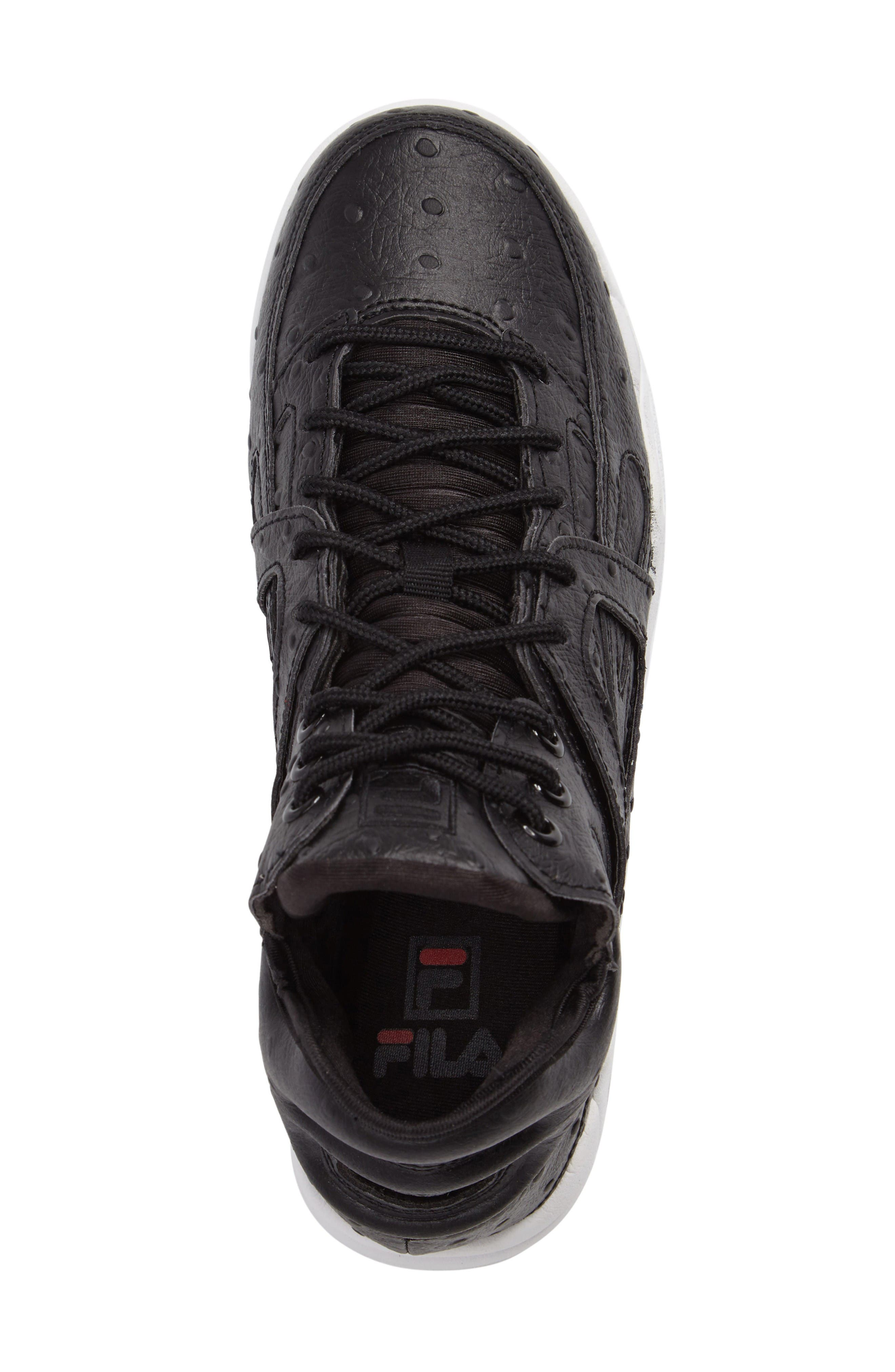 The Cage Ostrich Sneaker,                             Alternate thumbnail 5, color,                             Black