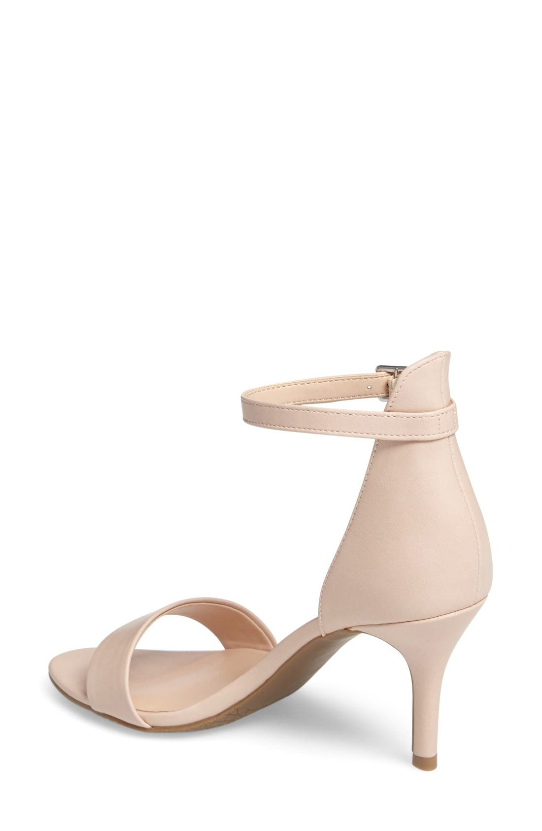 'Luminate' Open Toe Dress Sandal,                             Alternate thumbnail 2, color,                             Blush Faux Leather