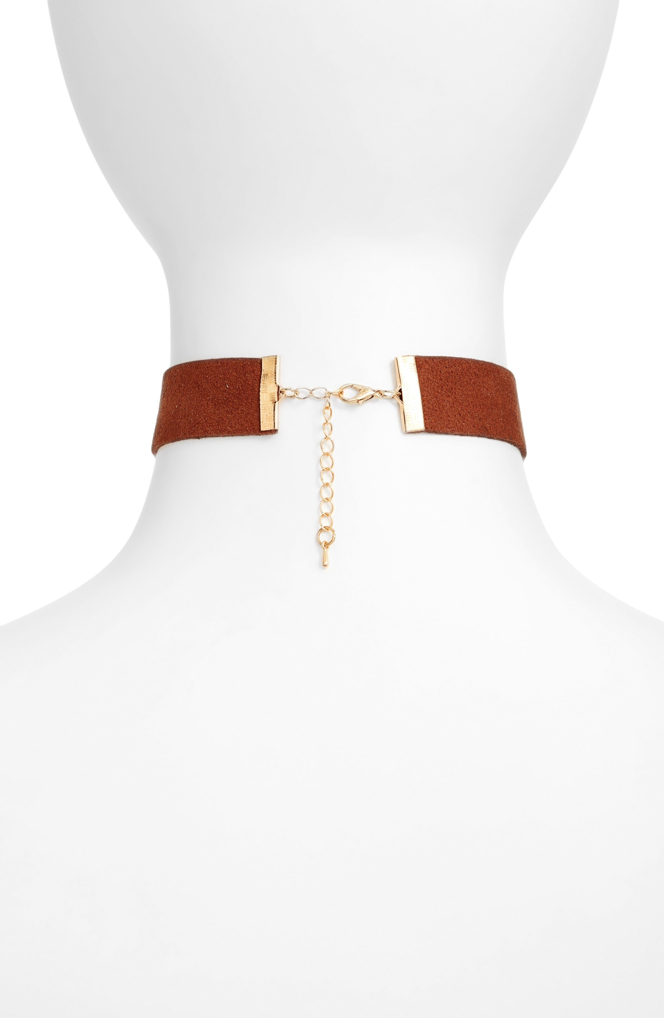 Alternate Image 2  - Jules Smith Orion Faux Suede Choker