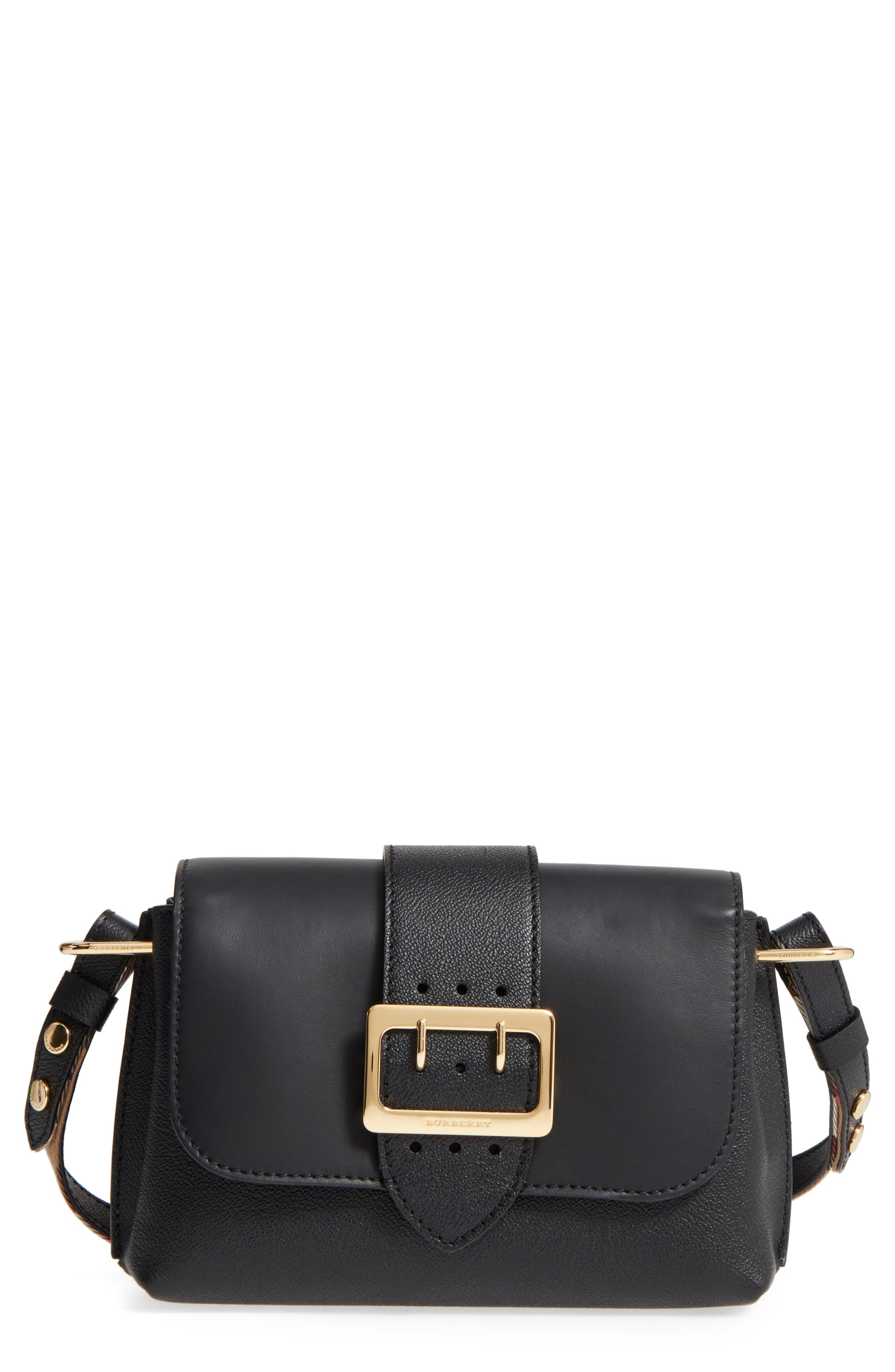 Main Image - Burberry Small Medley Leather Crossbody Bag