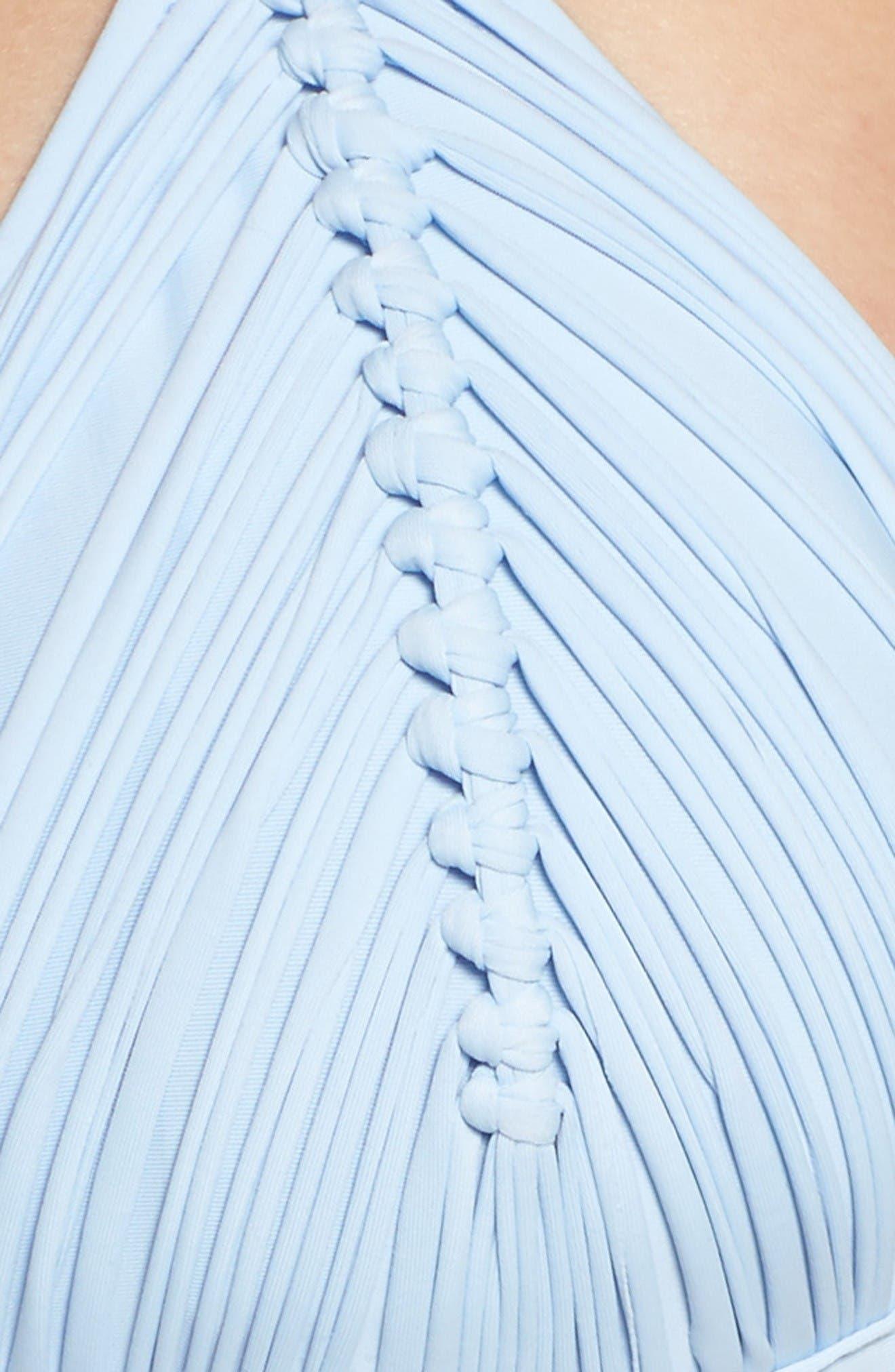 Isla Macramé Bikini Top,                             Alternate thumbnail 6, color,                             Pebble Blue