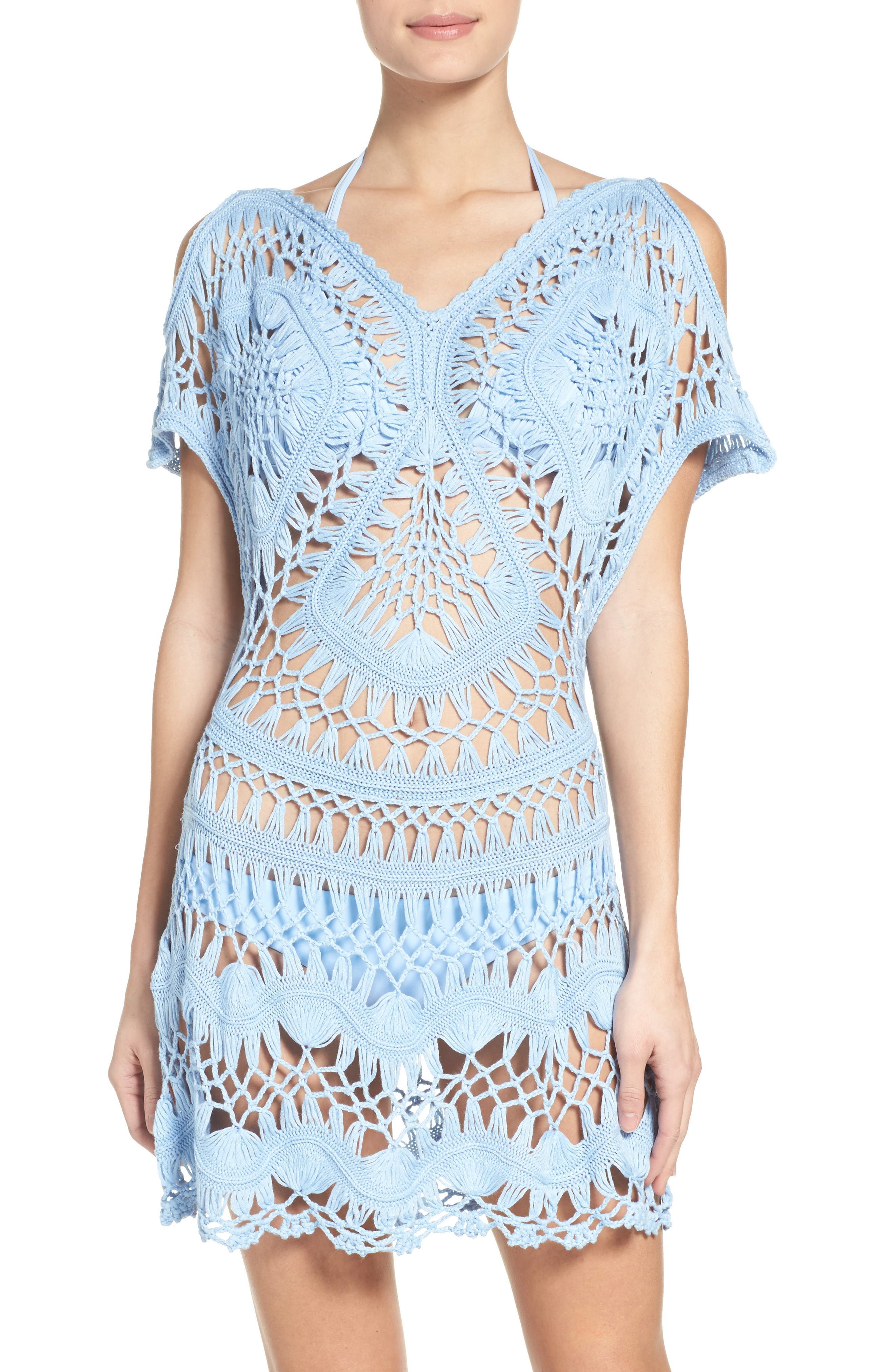 Cover-Up Tunic,                         Main,                         color, Pebble Blue