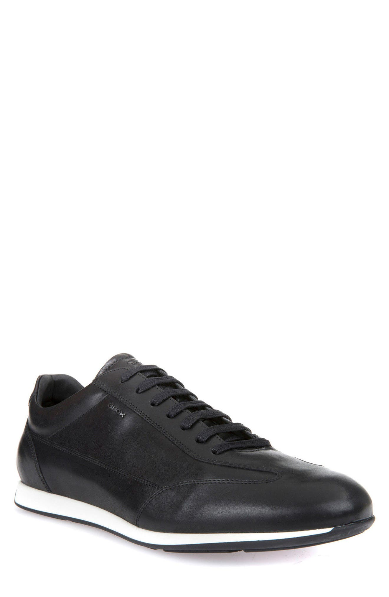 Clemet 1 Sneaker,                         Main,                         color, Black Leather