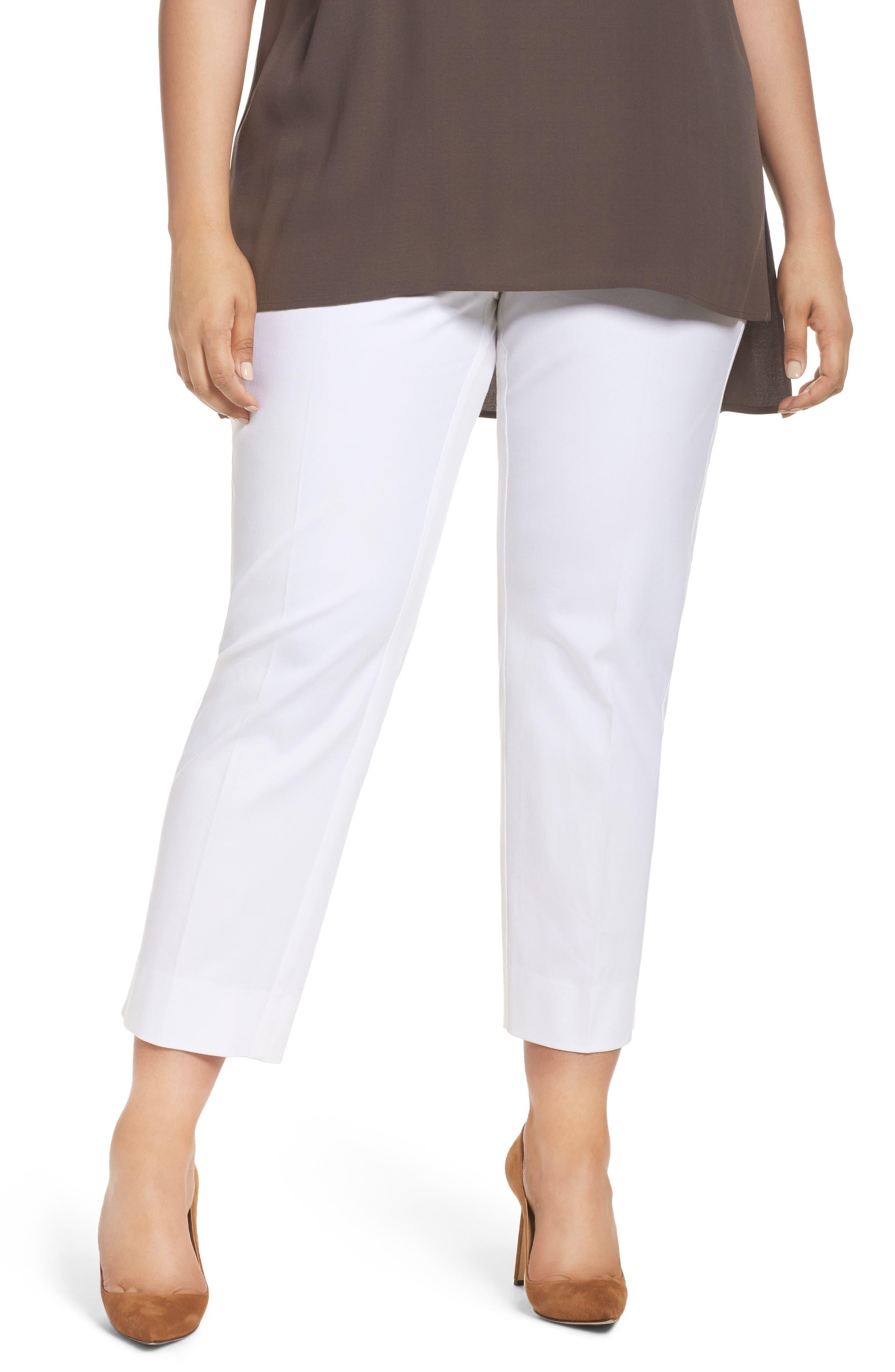 Main Image - Sejour Straight Leg Ankle Pants (Plus Size)