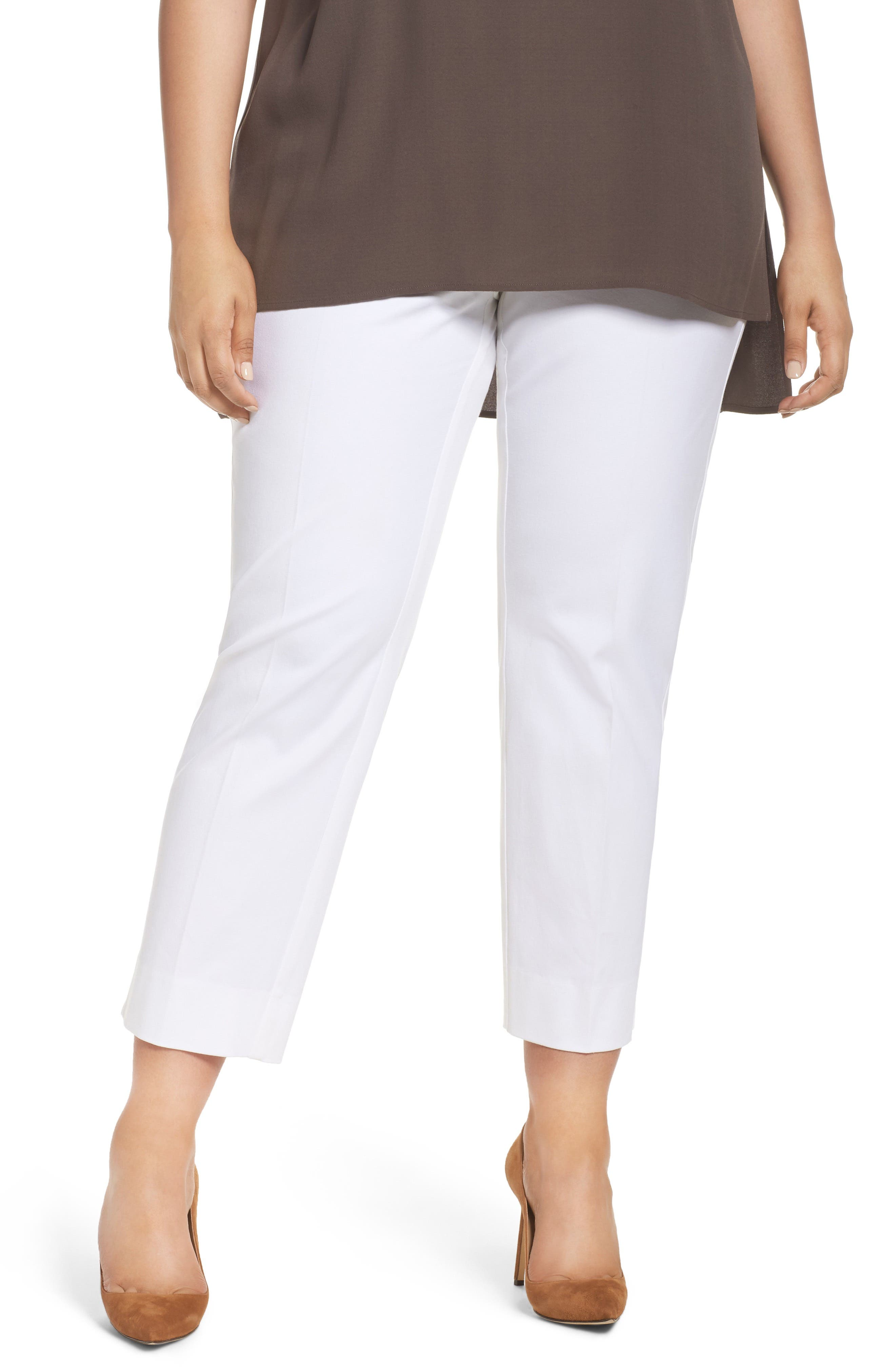 Sejour Straight Leg Ankle Pants (Plus Size)