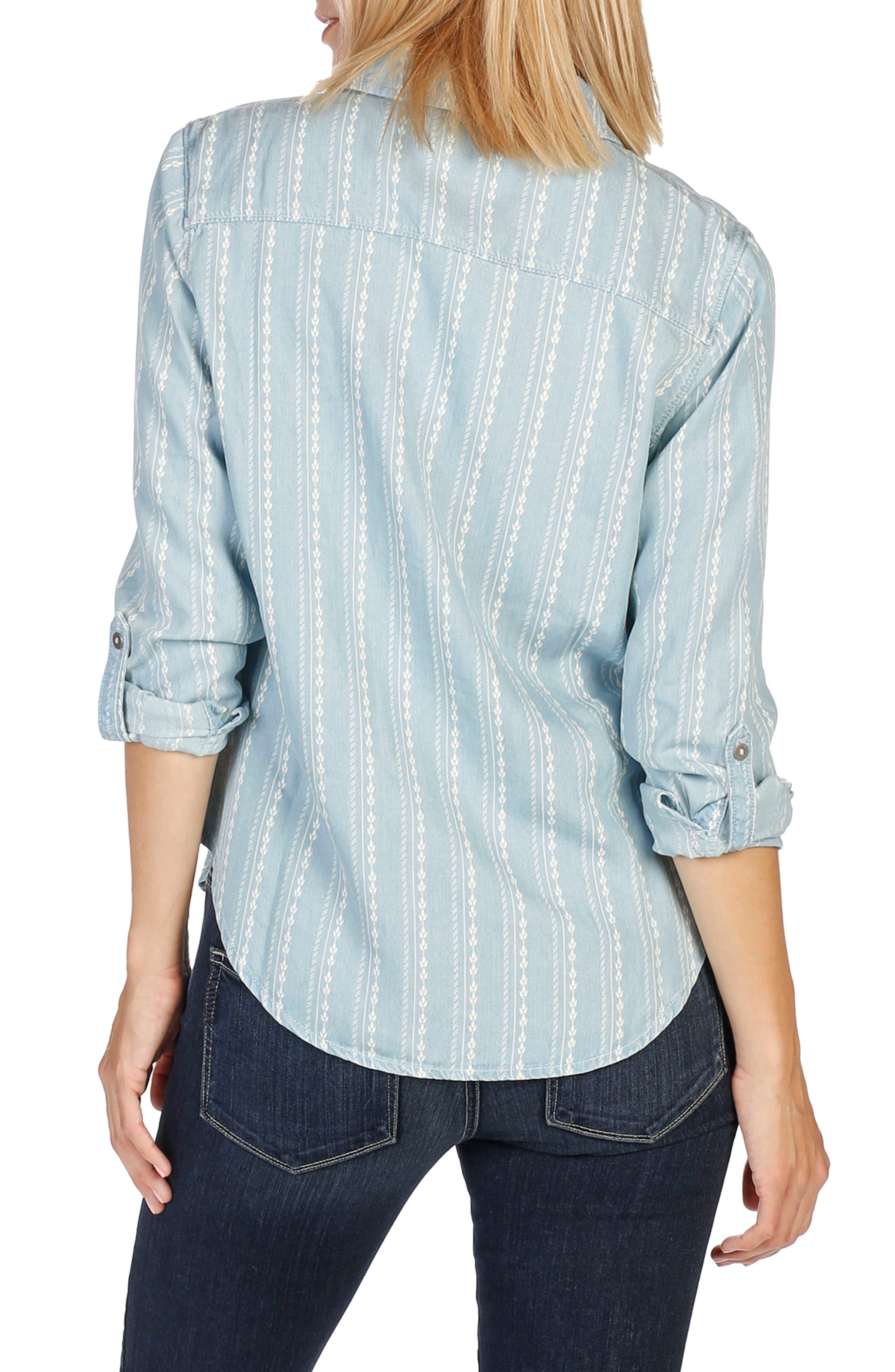 Alternate Image 2  - PAIGE Tenna Chambray Shirt