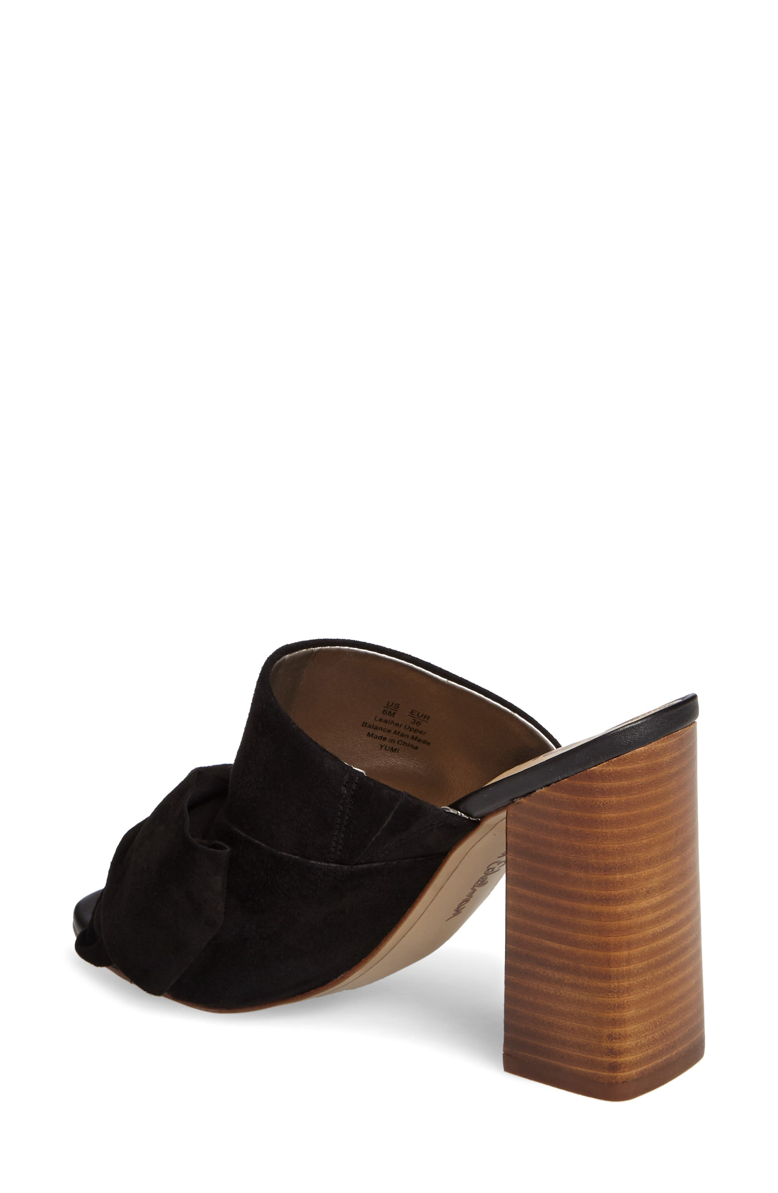 Yumi Bow Mule,                             Alternate thumbnail 2, color,                             Black