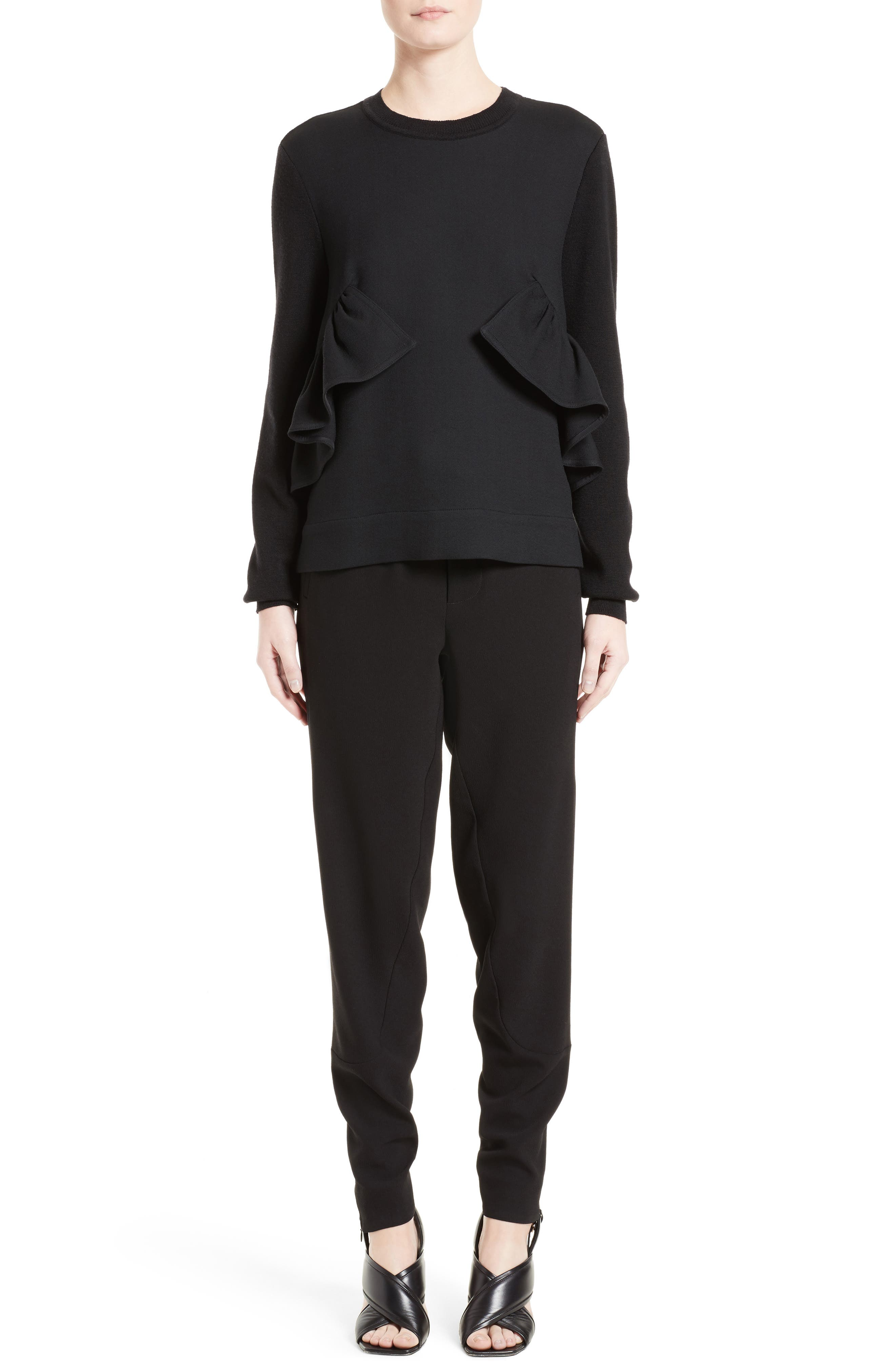 Alternate Image 7  - Marni Ruffle Crewneck Sweater