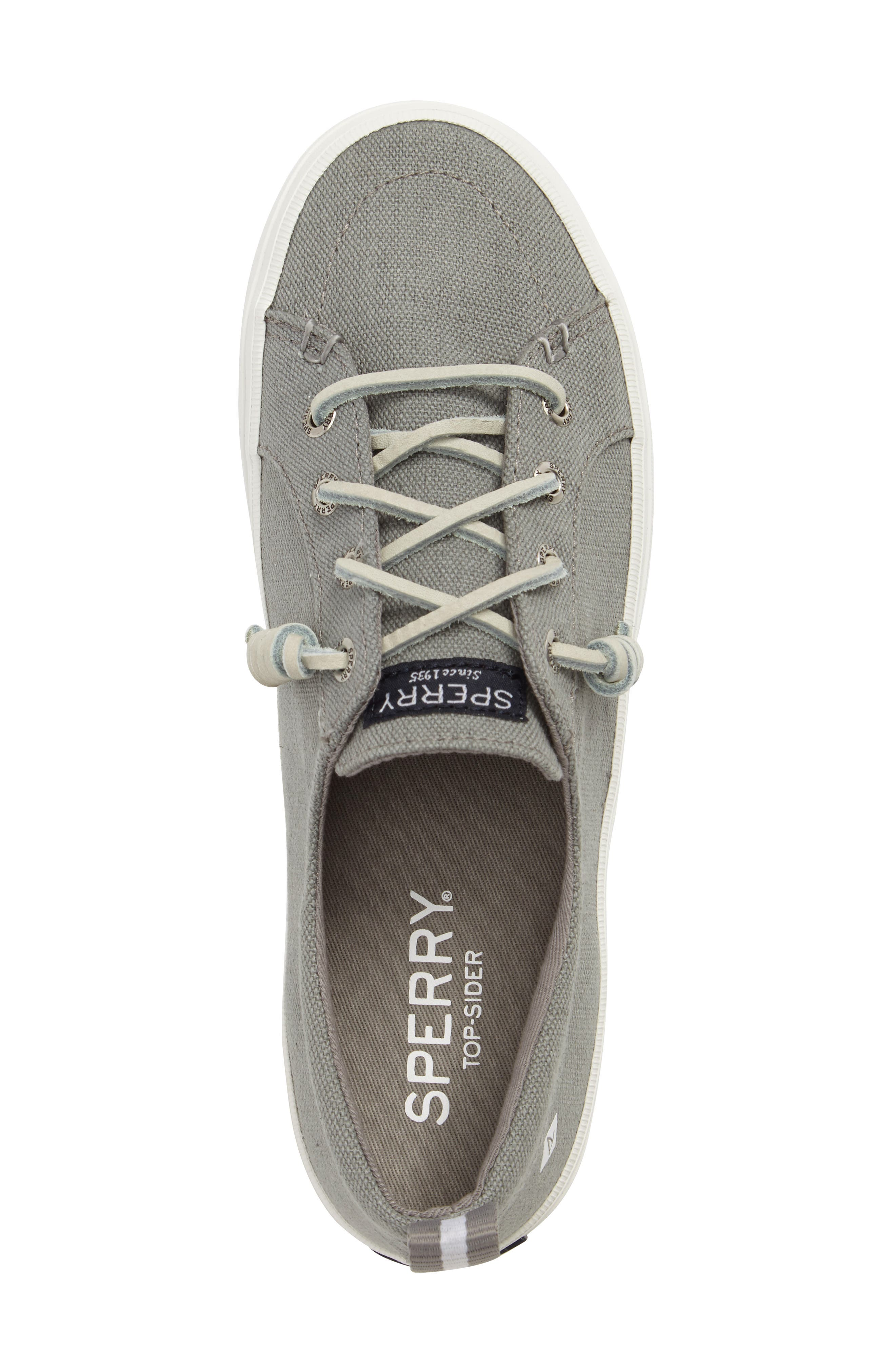 Crest Vibe Sneaker,                             Alternate thumbnail 5, color,                             Grey Canvas