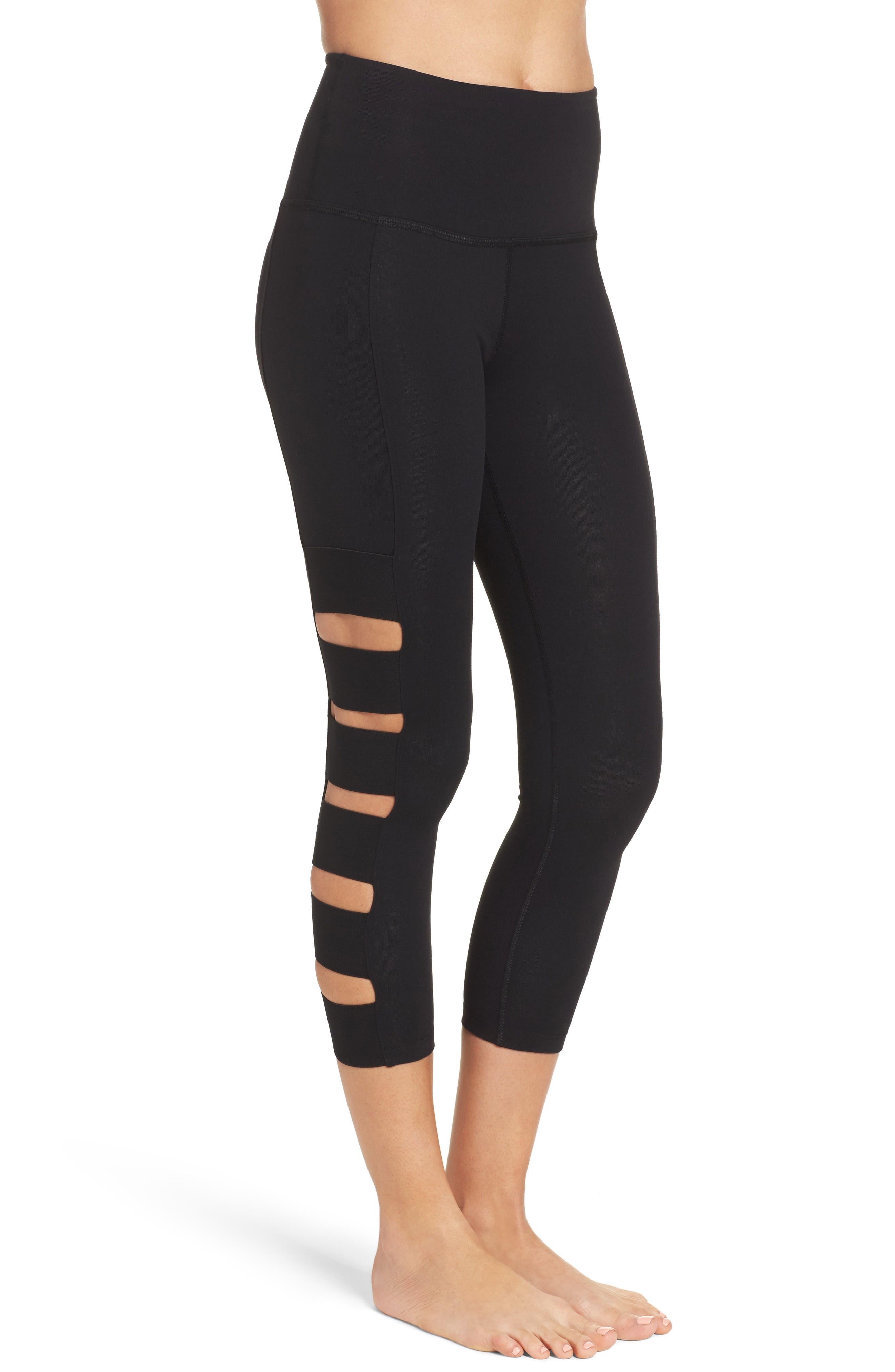 Alternate Image 3  - Beyond Yoga Wide Band Stacked Capris