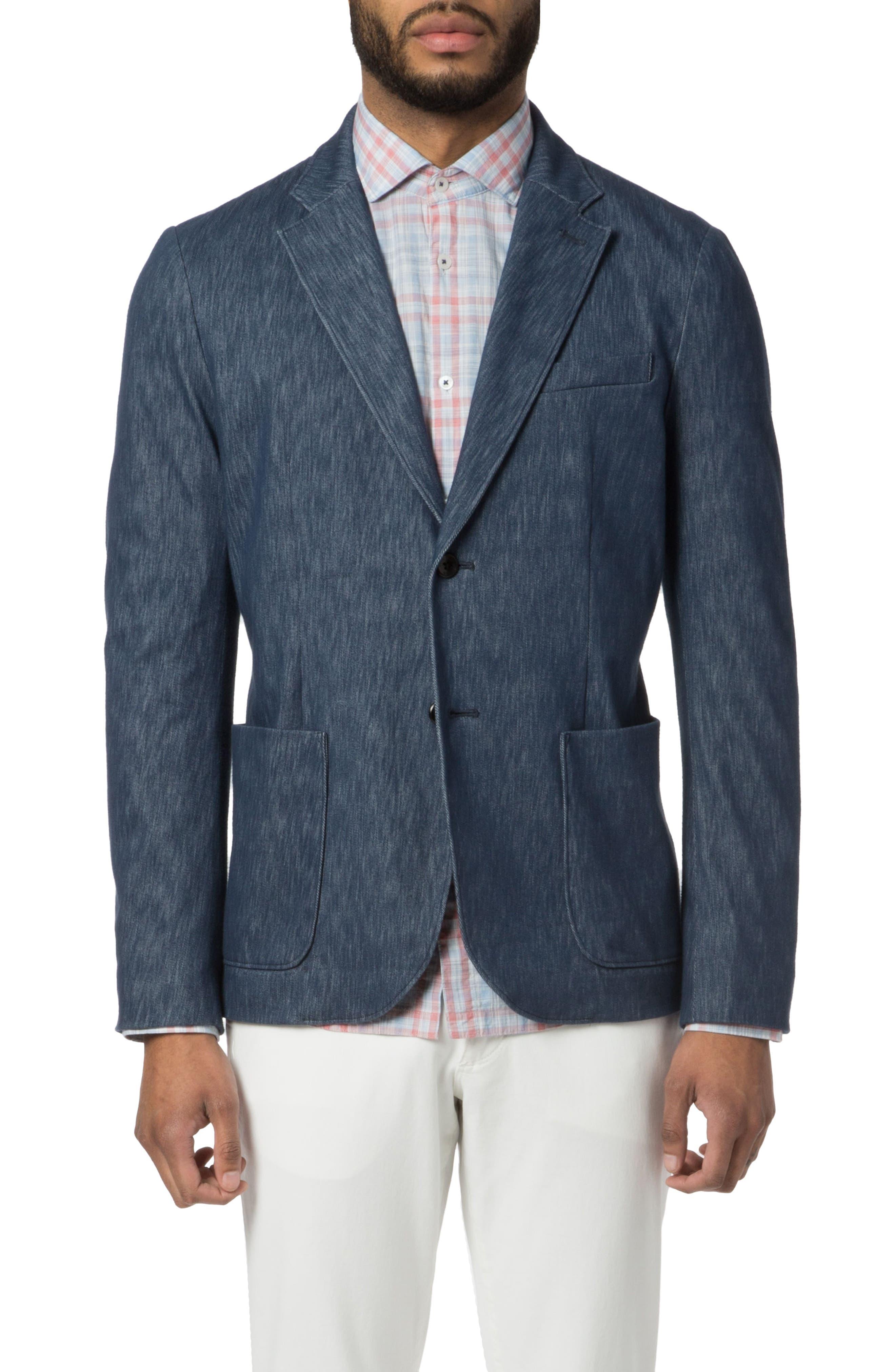 Vintage Twill Soft Blazer,                         Main,                         color, Indigo