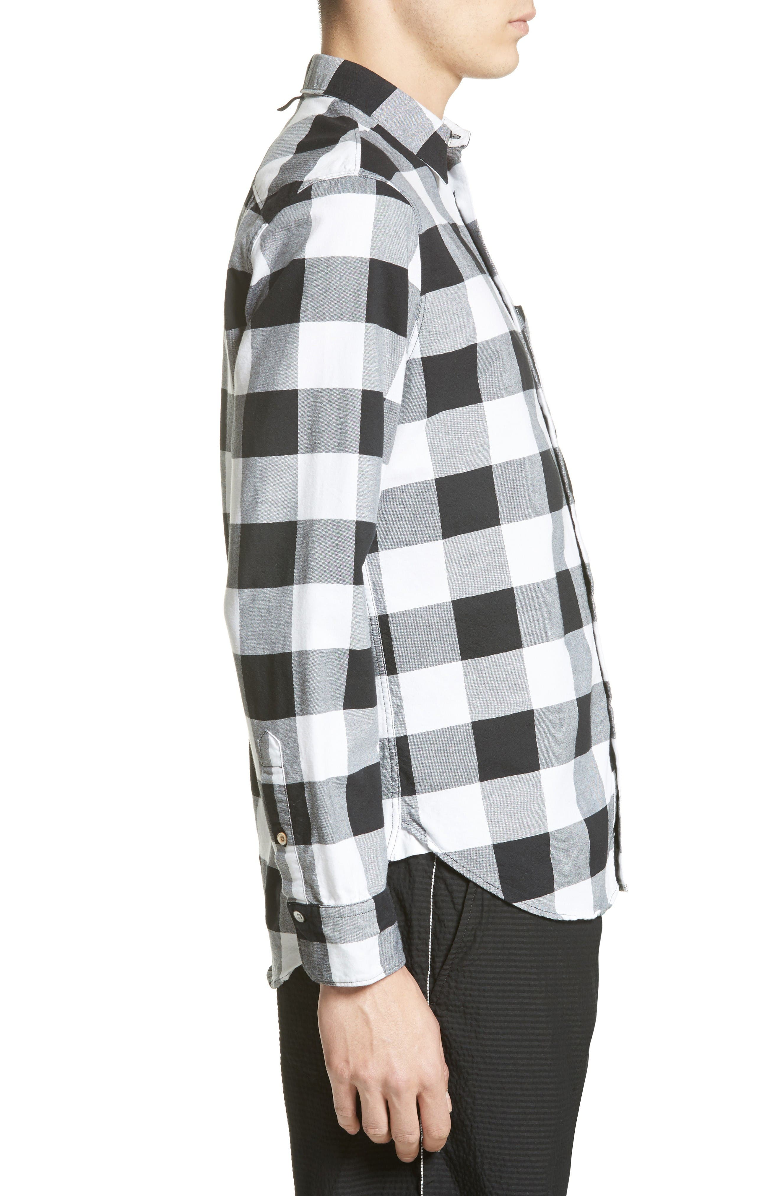 Alternate Image 3  - rag & bone Beach Trim Fit Large Check Sport Shirt