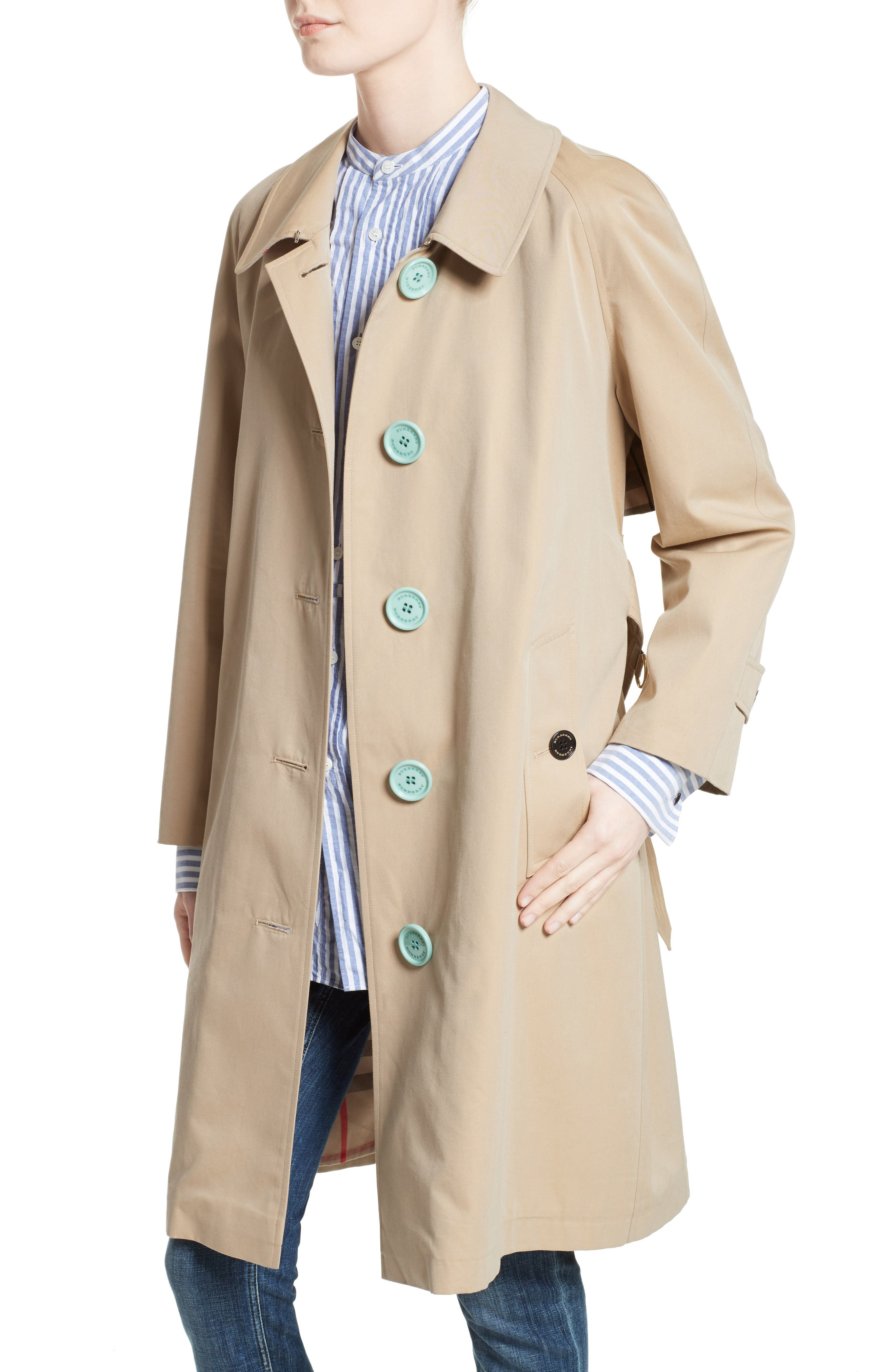 Brinkhill Trench Coat,                             Alternate thumbnail 7, color,                             Honey