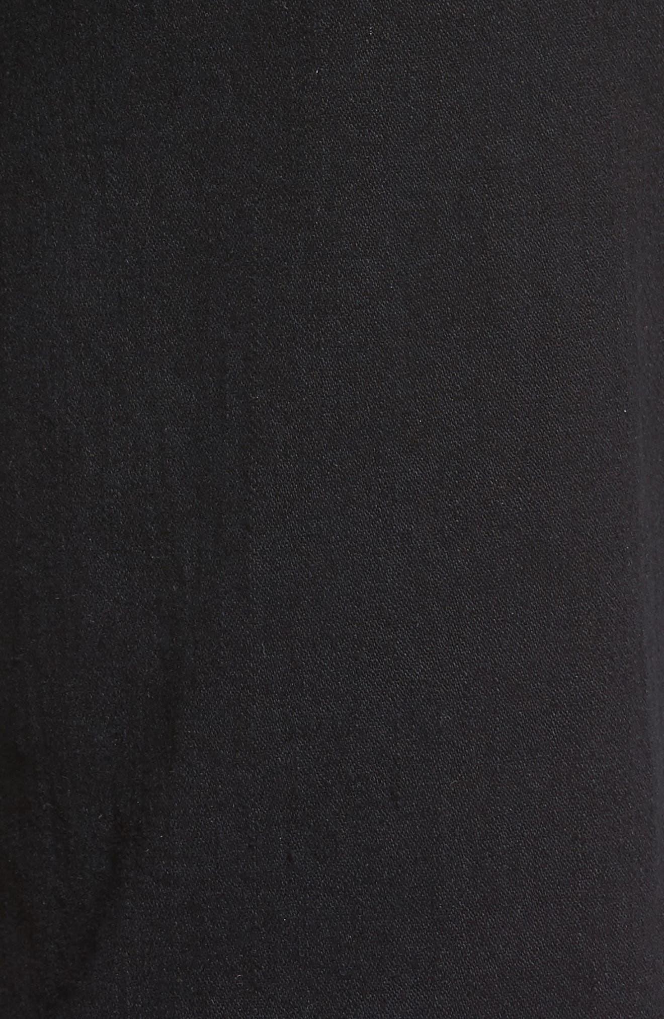 Marilyn Stretch Straight Leg Jeans,                             Alternate thumbnail 5, color,                             Black