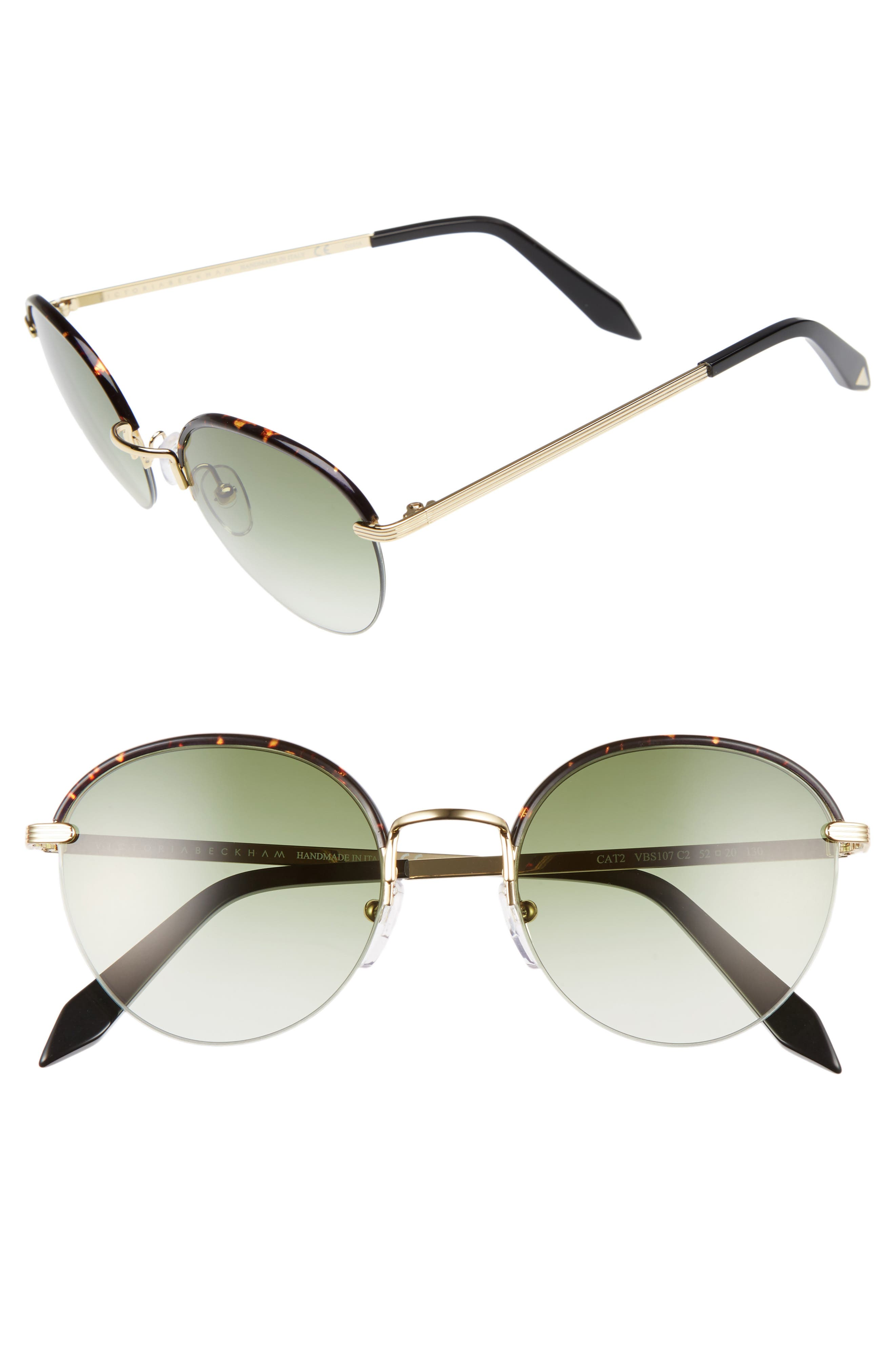 Victoria Beckham Windsor 52mm Round Sunglasses