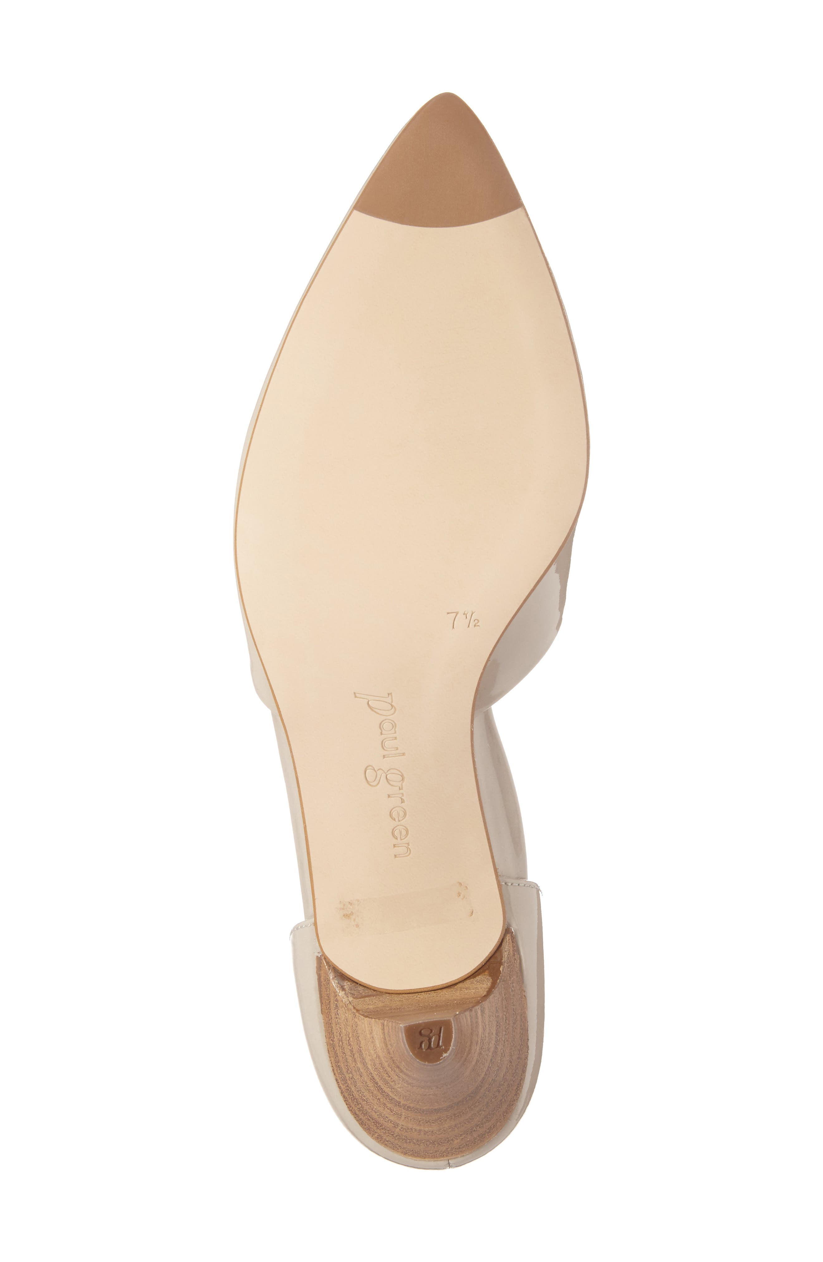 'Julia' d'Orsay Pump,                             Alternate thumbnail 6, color,                             Taupe Patent