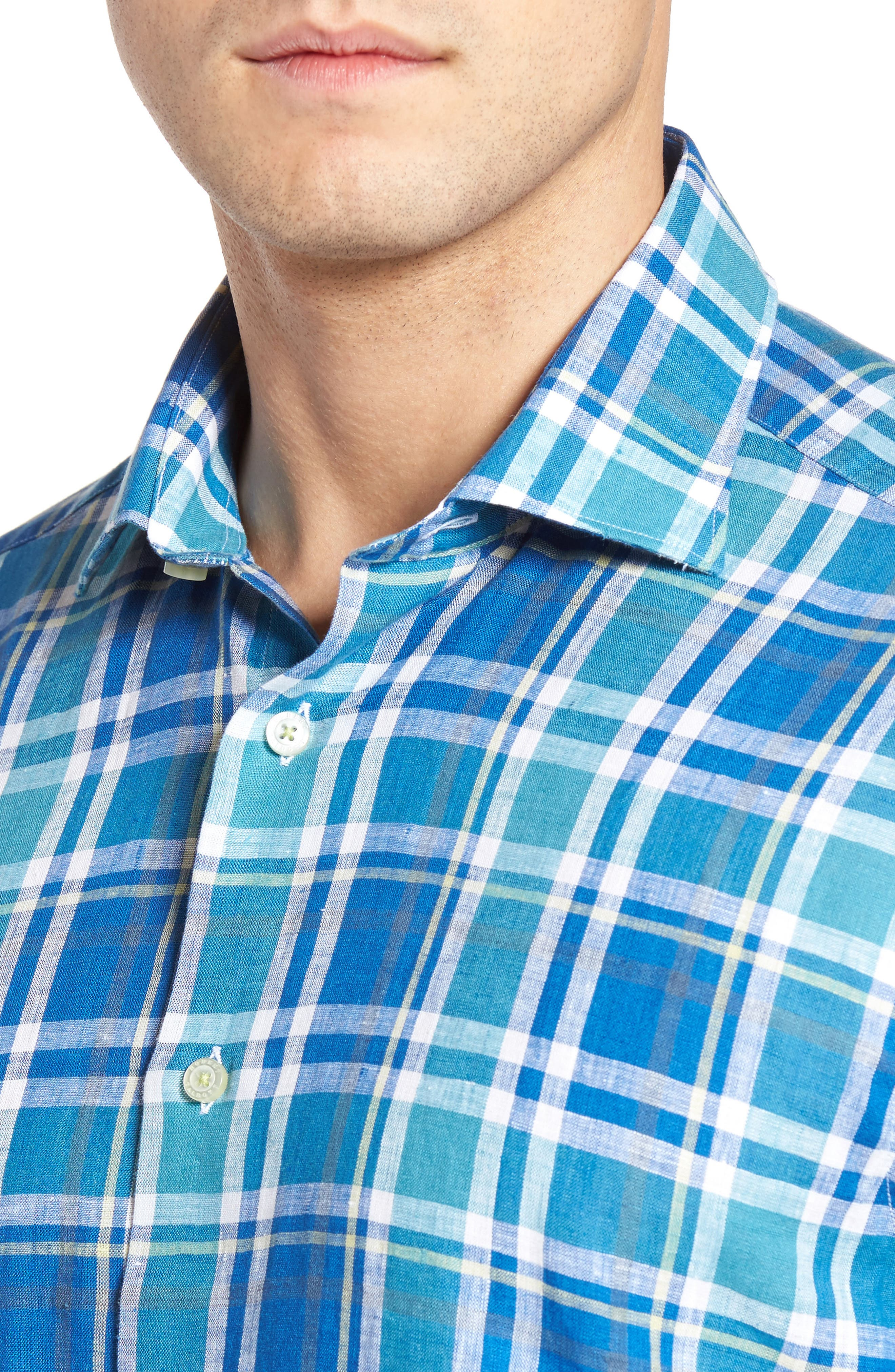 Crespi IV Tailored Fit Sport Shirt,                             Alternate thumbnail 2, color,                             Teal