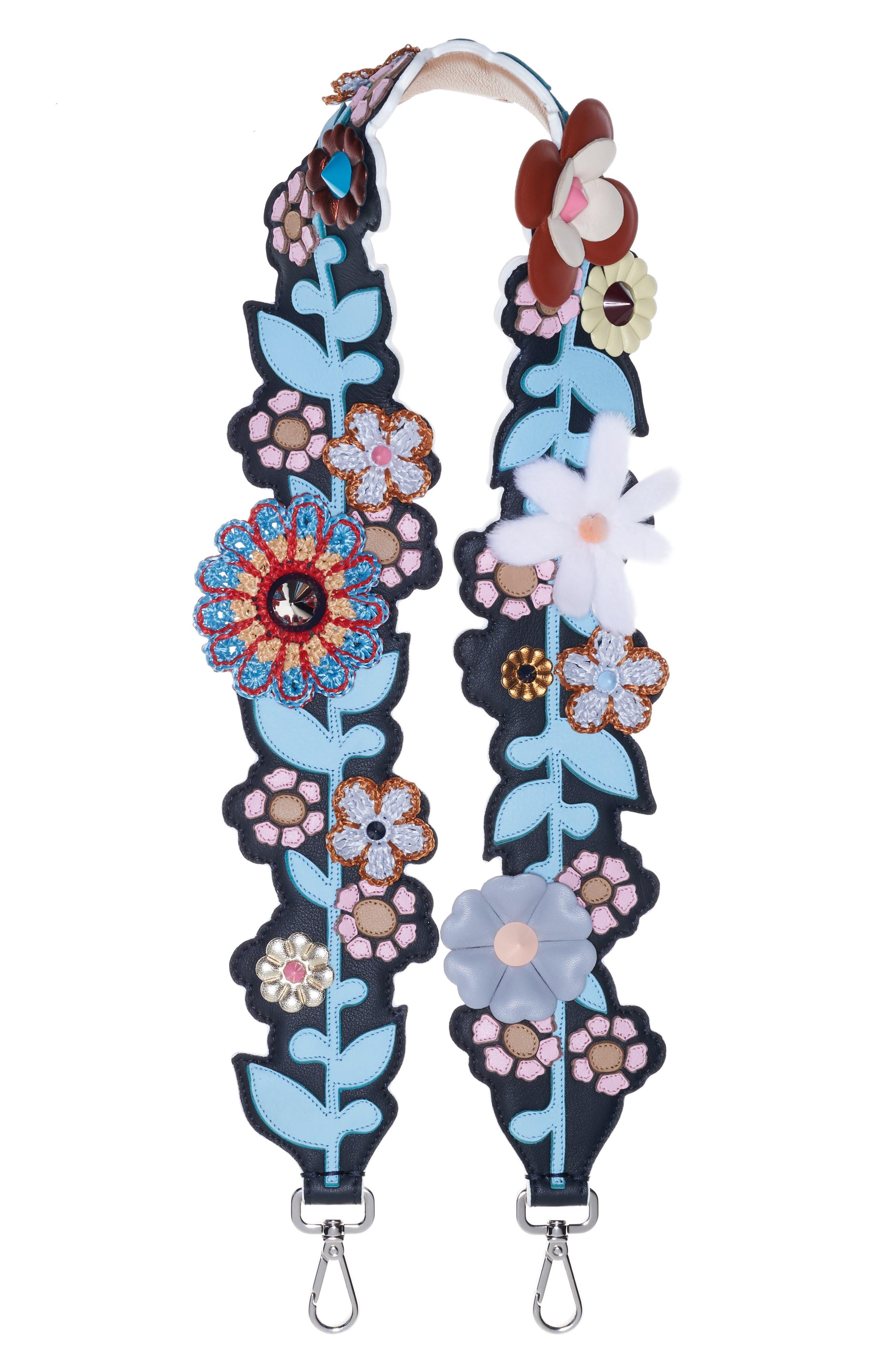 Strap You Mixed Media Floral Guitar Bag Strap,                             Main thumbnail 1, color,                             Multi