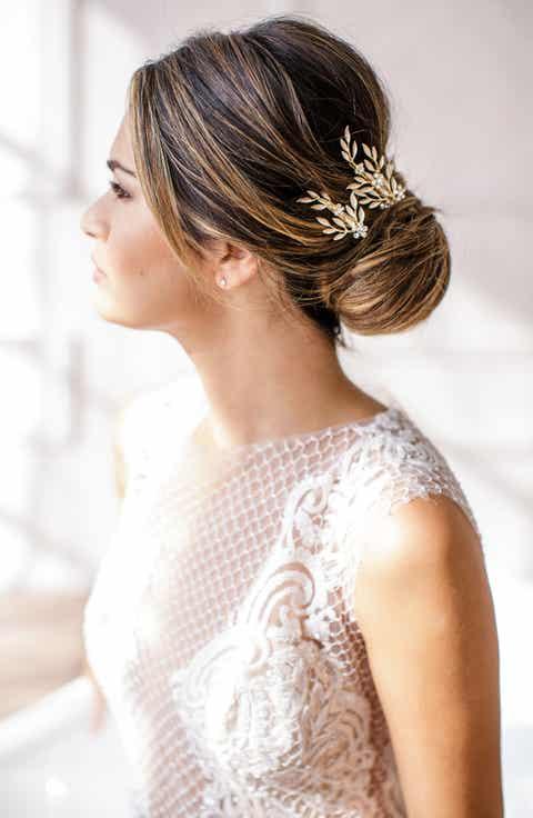 Wedding bridal hair accessories headbands nordstrom brides hairpins calvina 2 piece hair clip set junglespirit Image collections