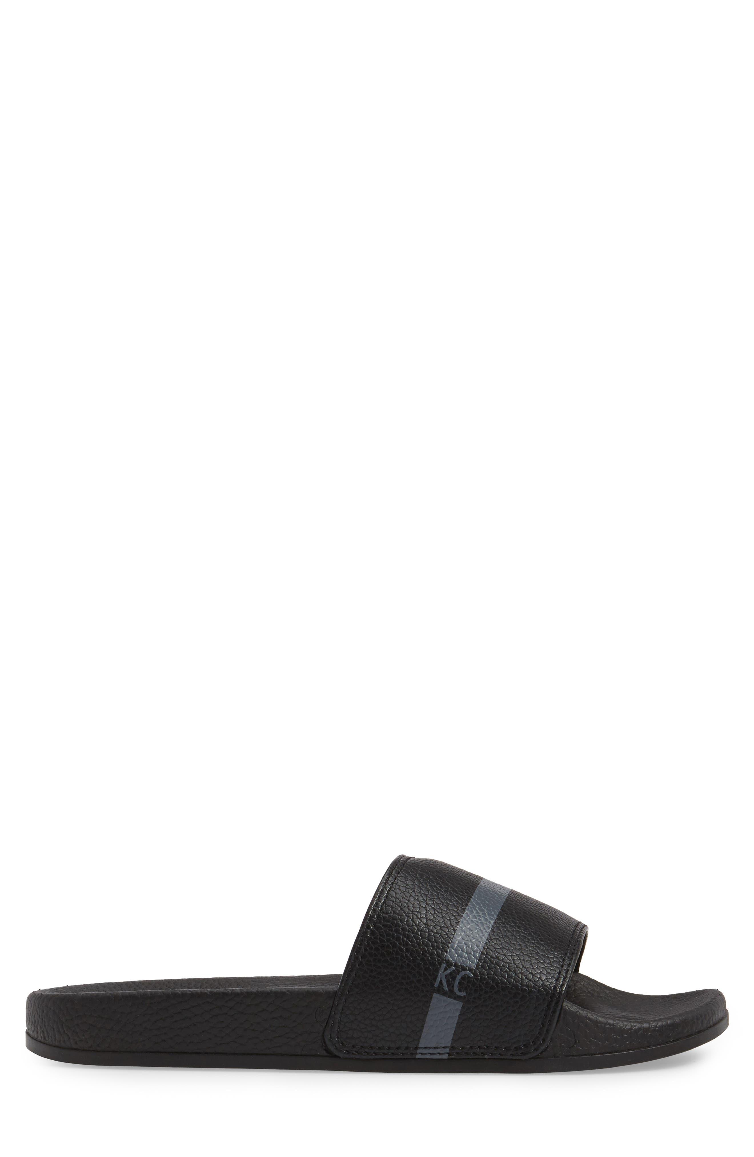 Big Screen Slide Sandal,                             Alternate thumbnail 3, color,                             Black