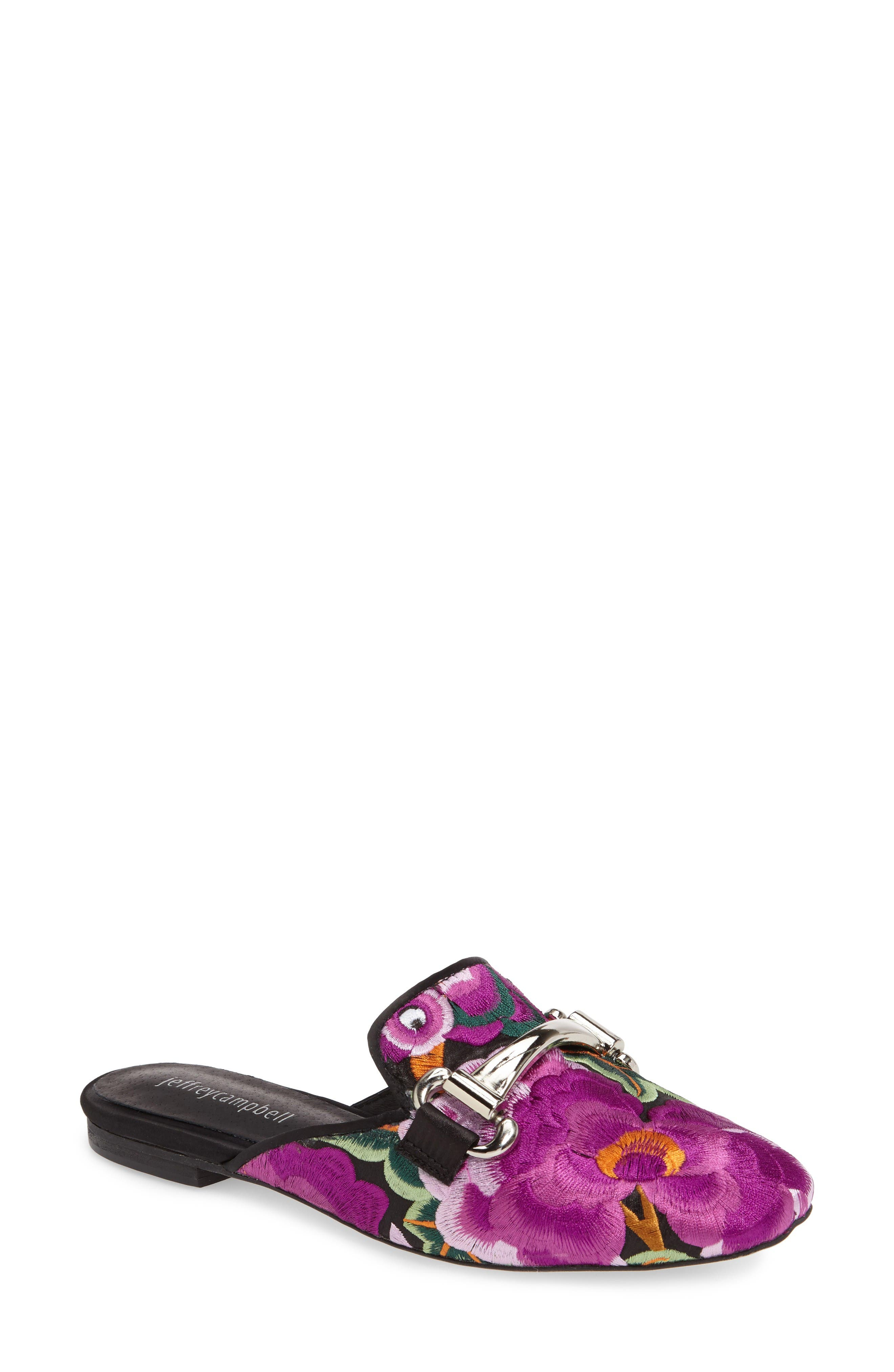 Jeffrey Campbell Ravis Embroidered Loafer Mule (Women)