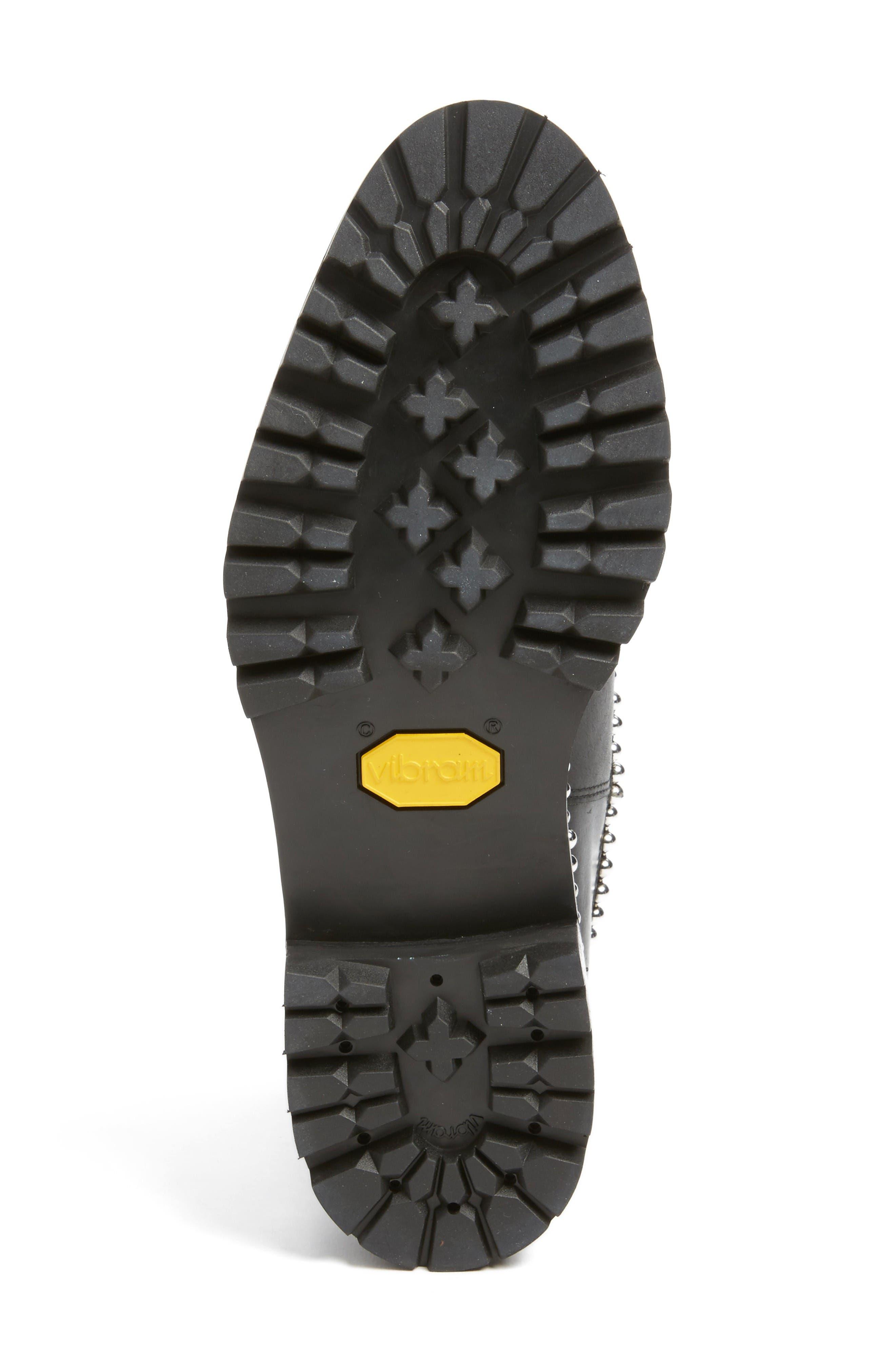Spencer Chelsea Boot,                             Alternate thumbnail 6, color,                             Black Leather