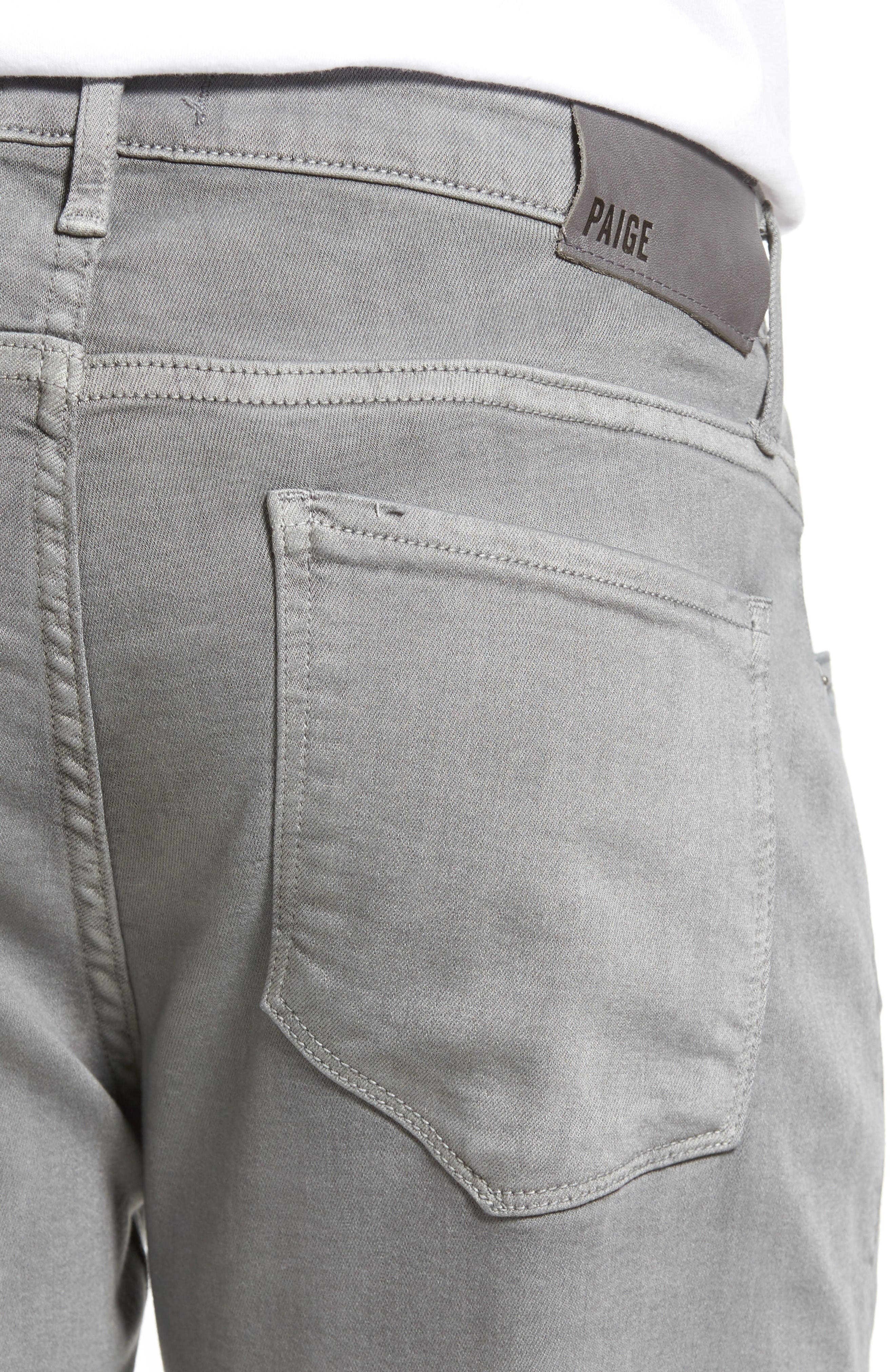 Transcend - Lennox Slim Fit Jeans,                             Alternate thumbnail 4, color,                             Grey Clay